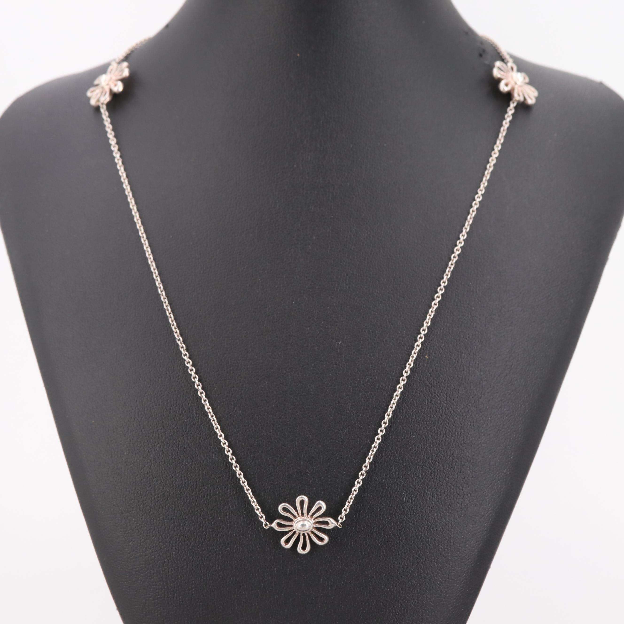 Paloma Picasso for Tiffany & Co. Sterling Silver Flower Station Necklace