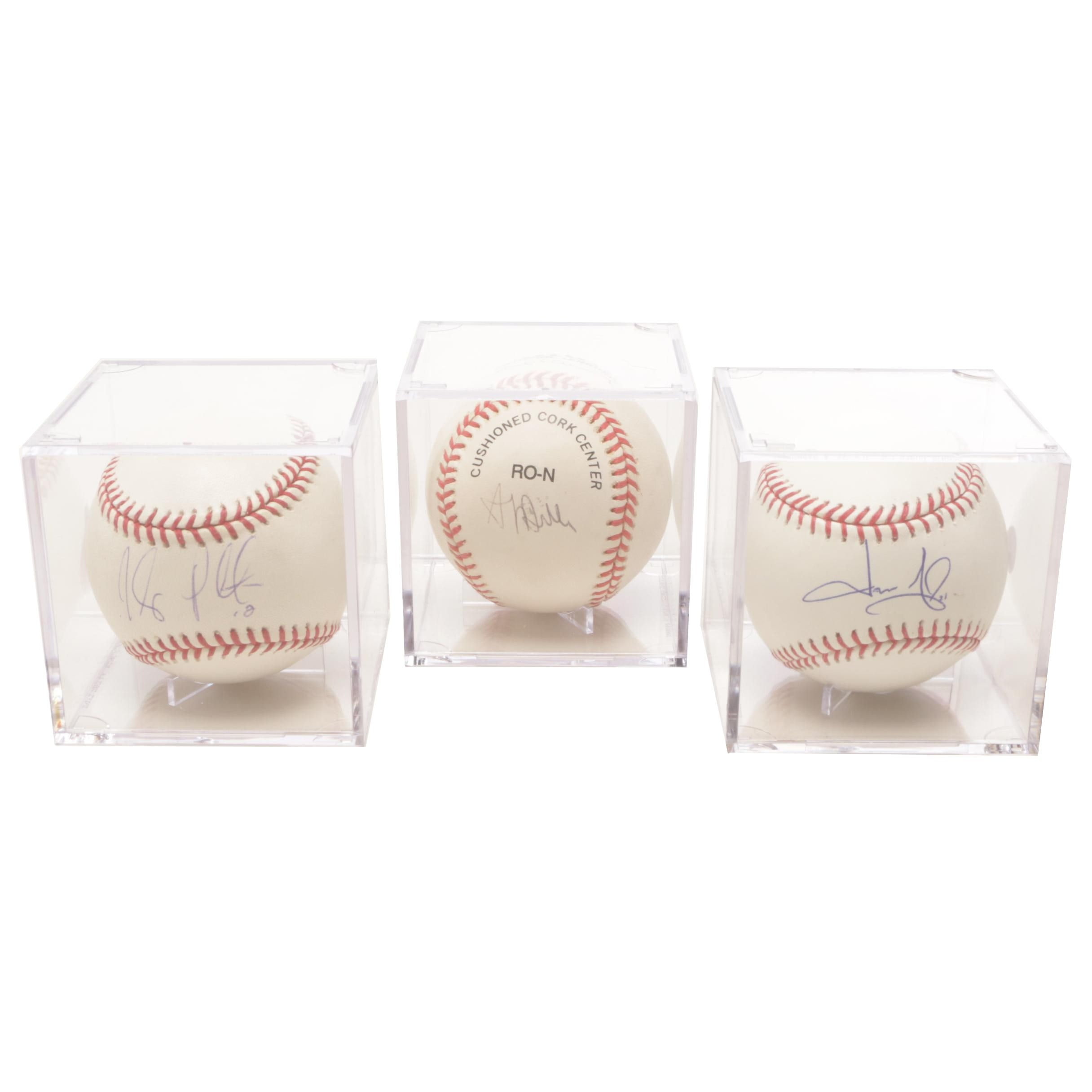 Belle, Giambi, and Peralta Signed Rawlings Major League Baseballs