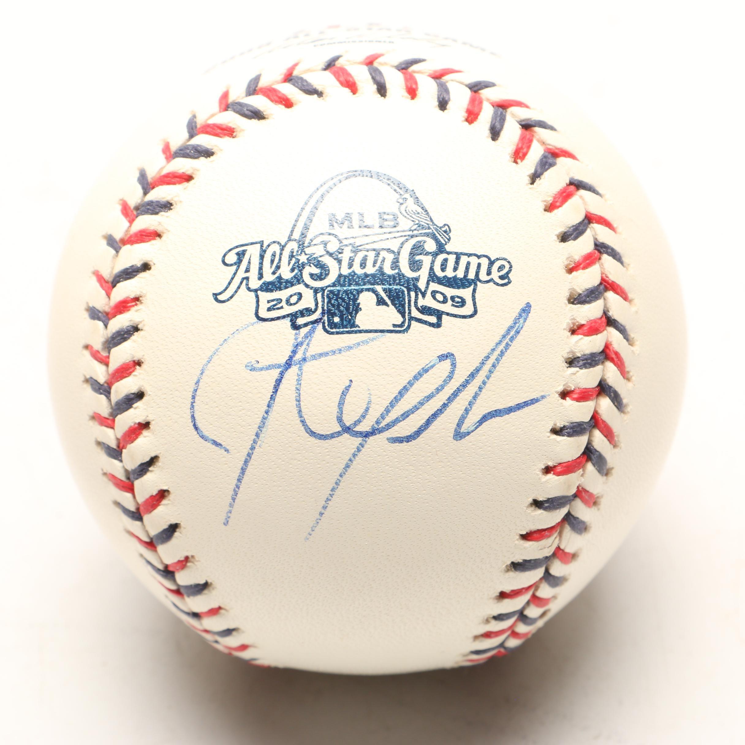 Johnathan Papelbon Signed 2009 Rawlings All-Star Game Baseball JSA COA