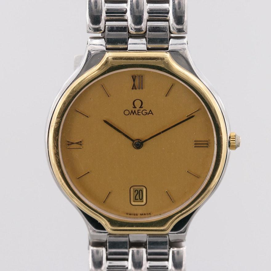53d5b58b288 Vintage Omega De Ville Two-Tone Quartz Wristwatch