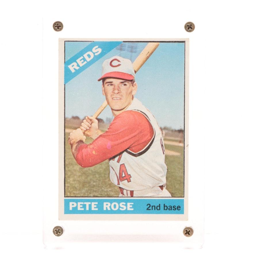 1966 Pete Rose Cincinnati Reds Topps Baseball Card