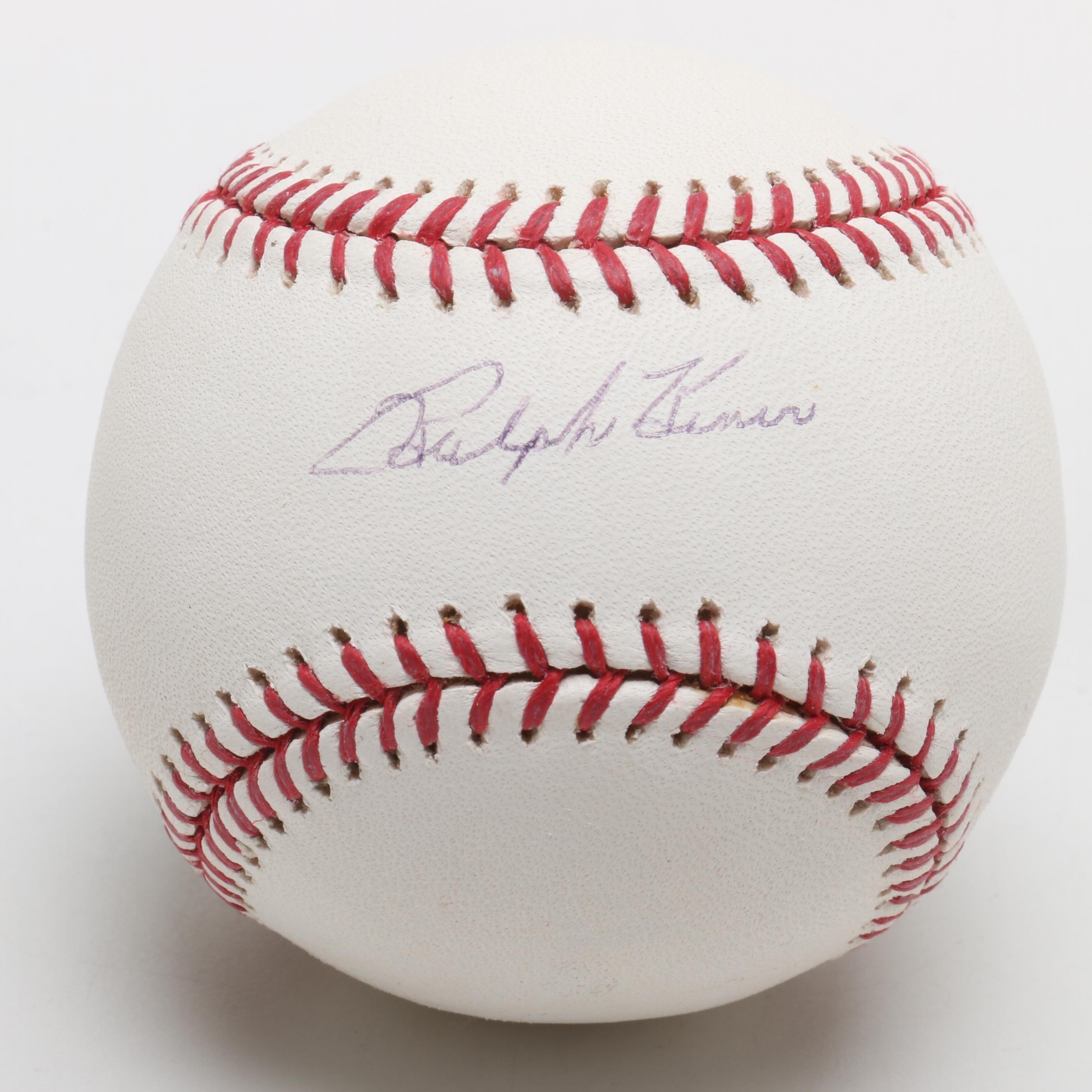 (HOF) Ralph Kiner Signed Rawlings Major League Baseball PSA/DNA COA