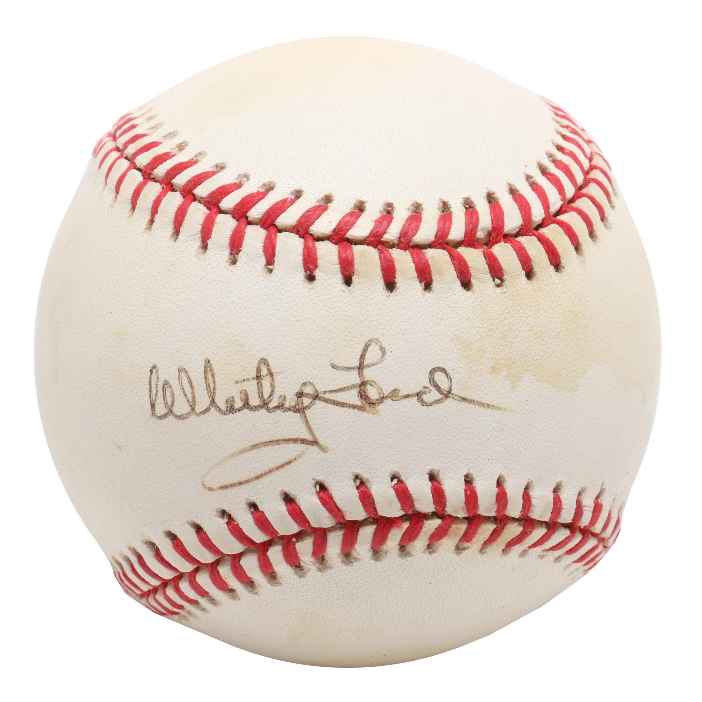 (HOF) Whitey Ford Signed Rawlings American League Baseball