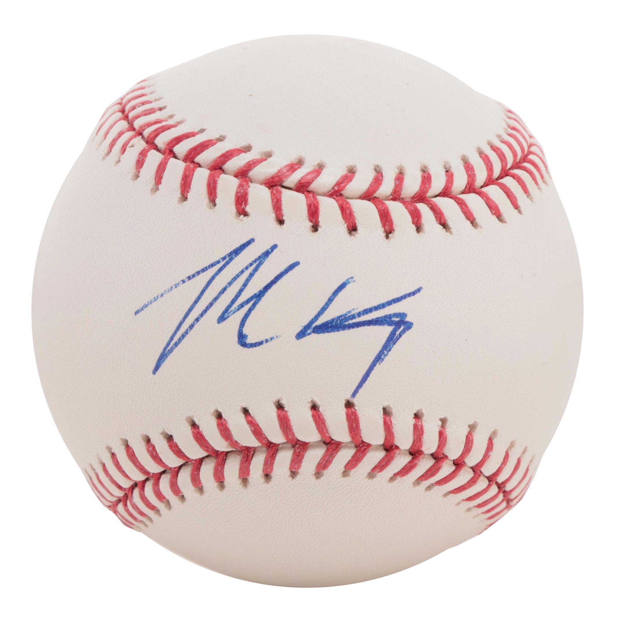 Newest Red Matt Kemp Signed Rawlings Major League Baseball JSA COA