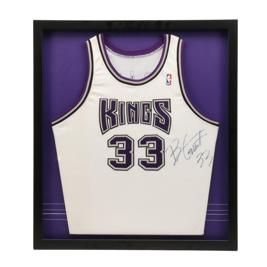 80731766c7d Brian Grant Signed Sacramento Kings Matted and Framed Basketball Jersey :  EBTH