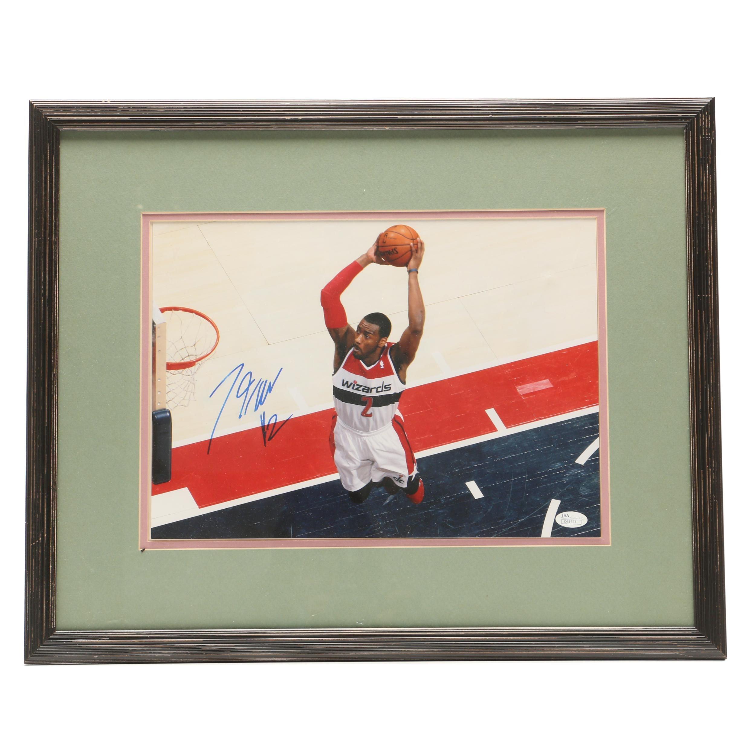 John Wall Signed Washington Wizards Framed and Matted Photo Display JSA COA