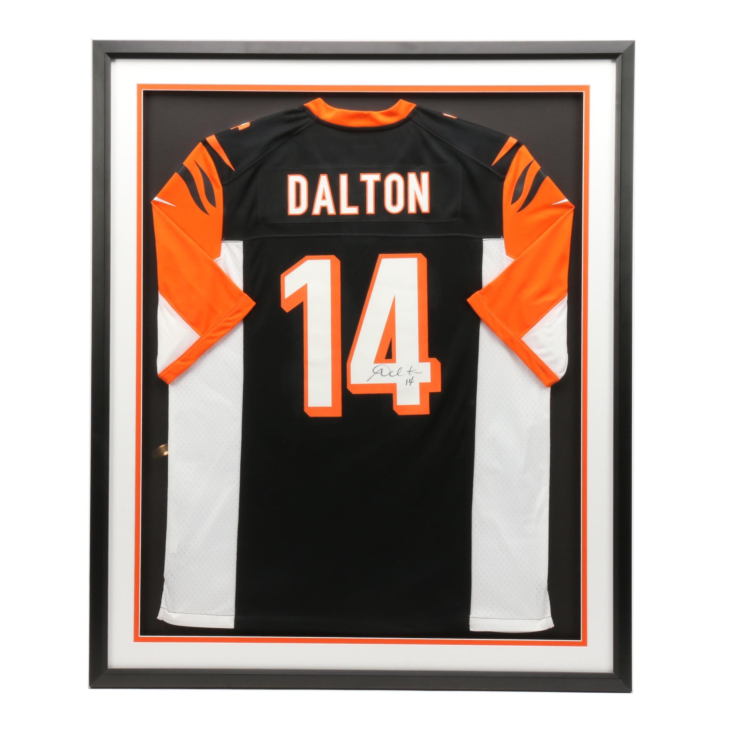 Framed Andy Dalton Signed Cincinnati Bengals Replica NFL Jersey