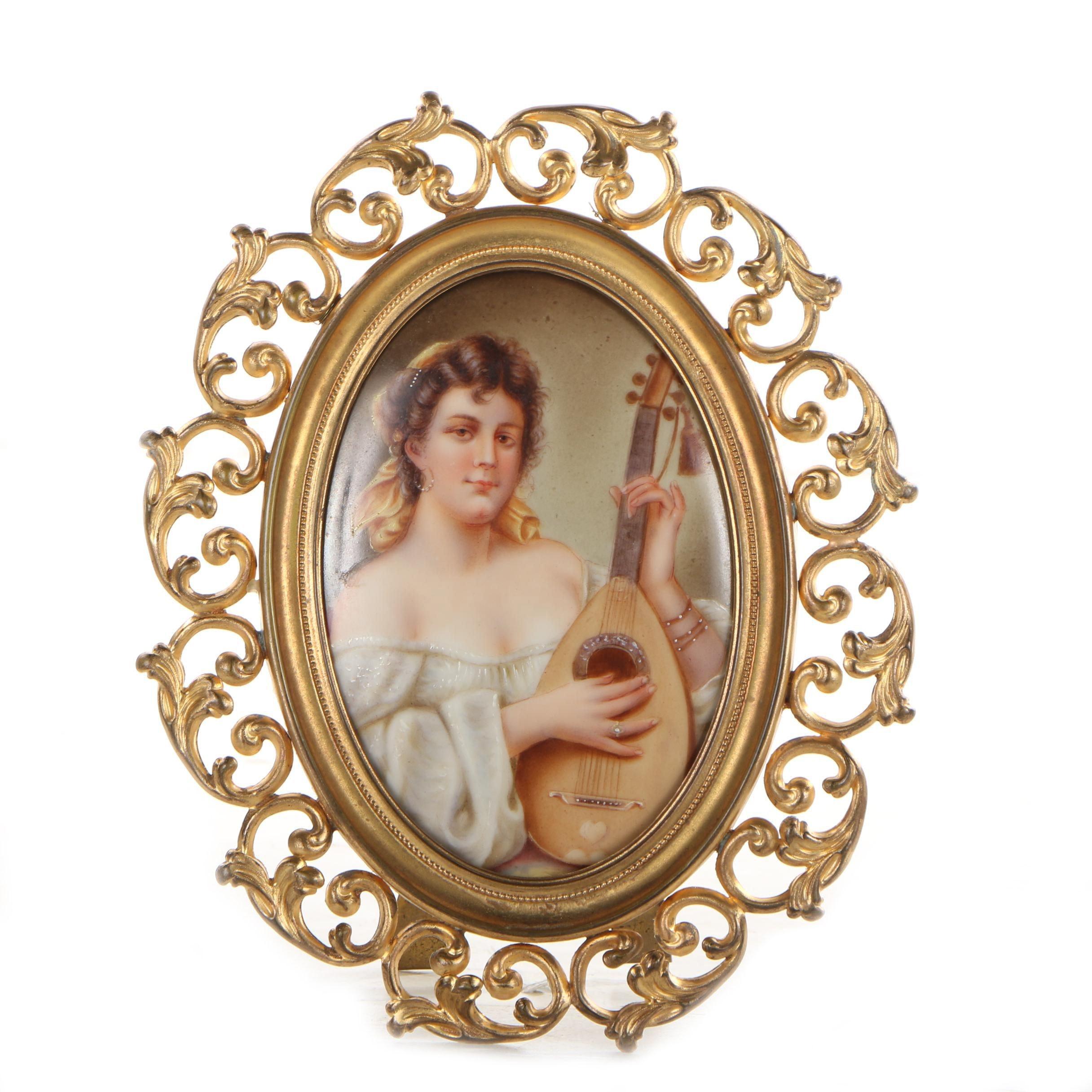 Miniature Painting on Porcelain