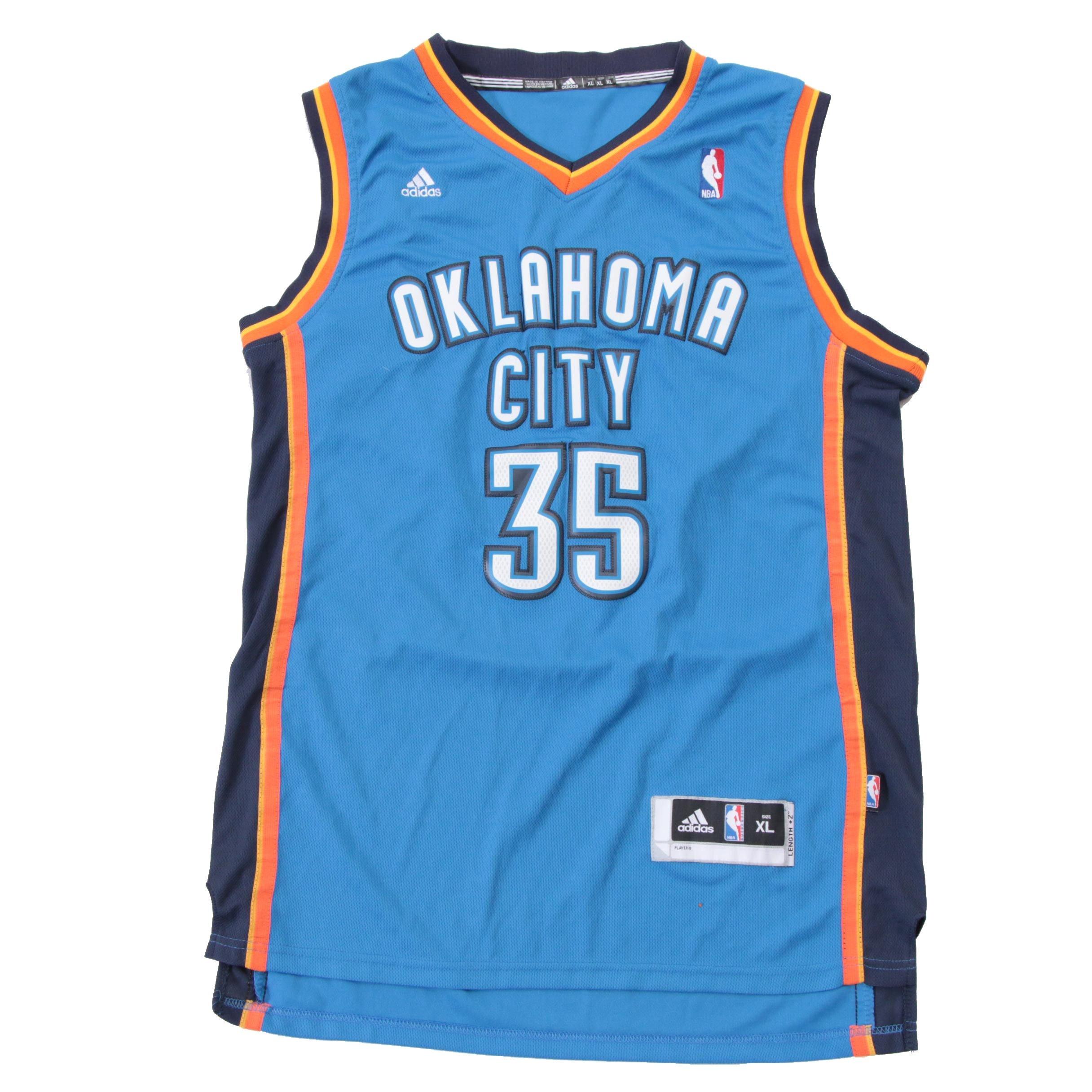 Kevin Durant Signed Thunder Jersey  COA