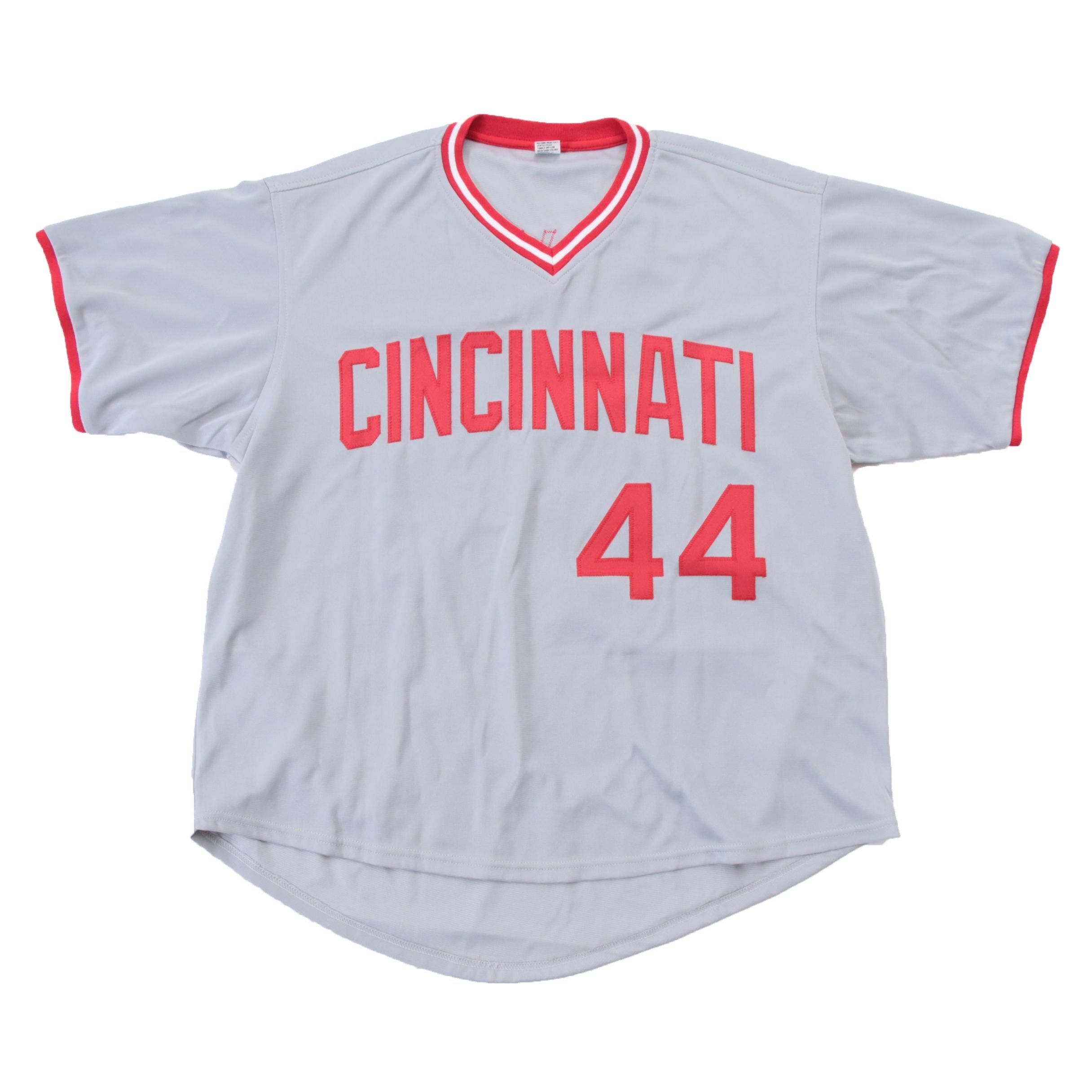 Eric Davis Cincinnati Reds Signed Baseball Jersey JSA COA
