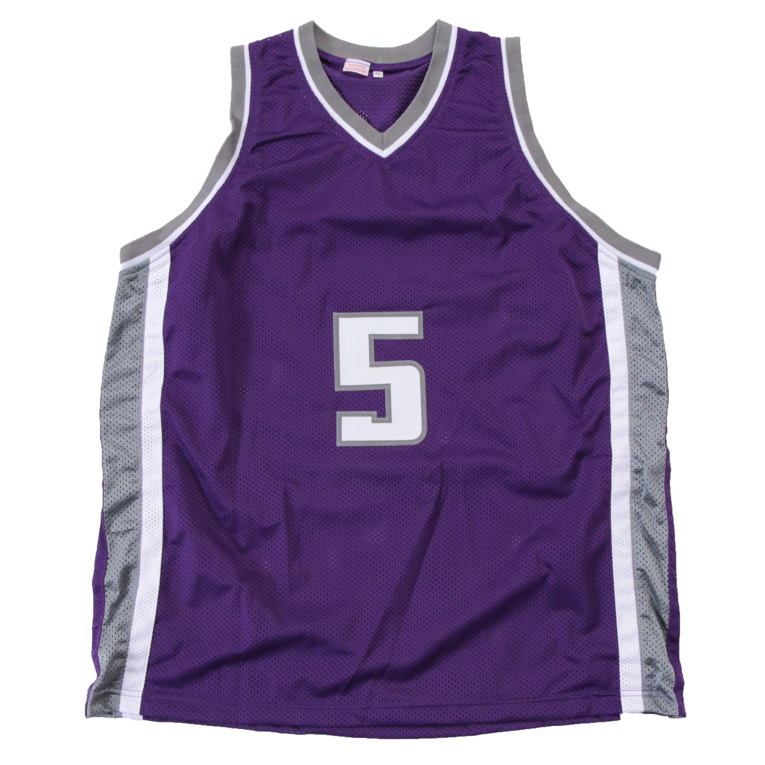 De' Aaron Fox Signed Sacramento Kings Replica NBA Basketball Jersey Beckett COA