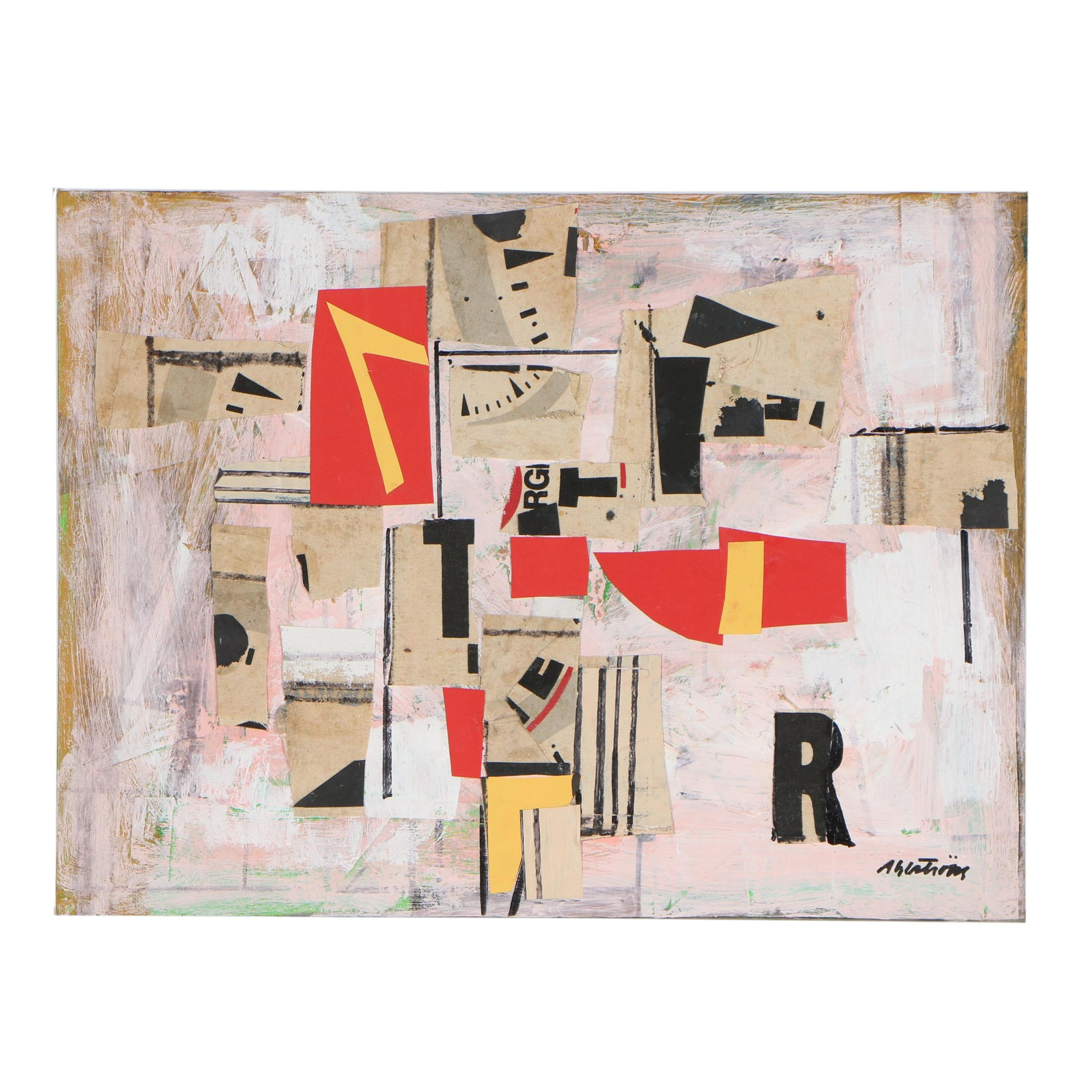 Ronald Gustin Ahlström Mixed Media Collage