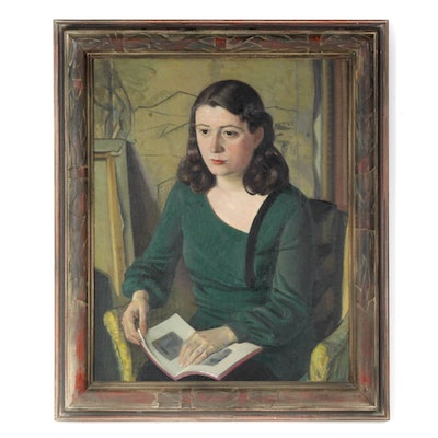 Portrait Oil Painting Attributed to Bela Ormo, 1931