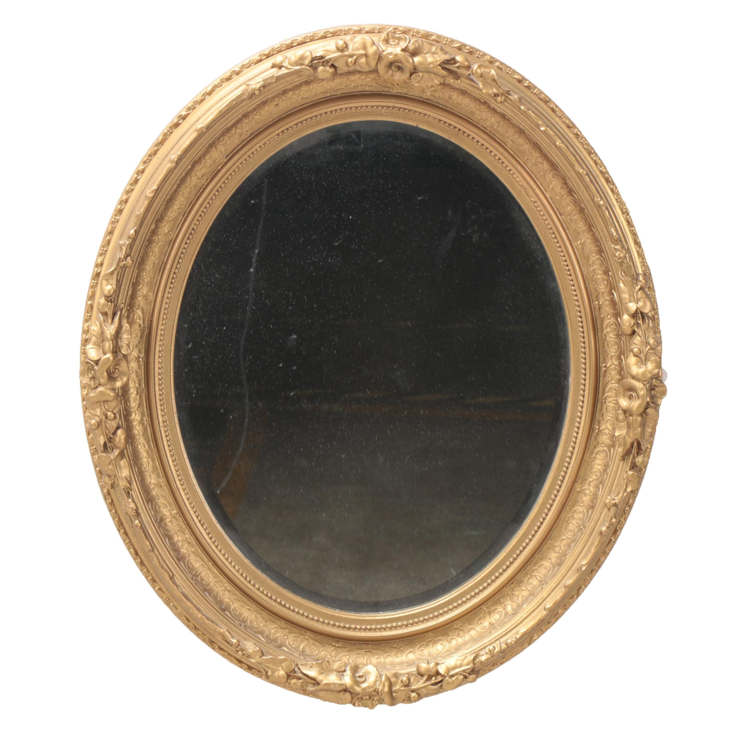 Queen Anne Style Giltwood and Gesso Wall Mirror, Late 20th Century