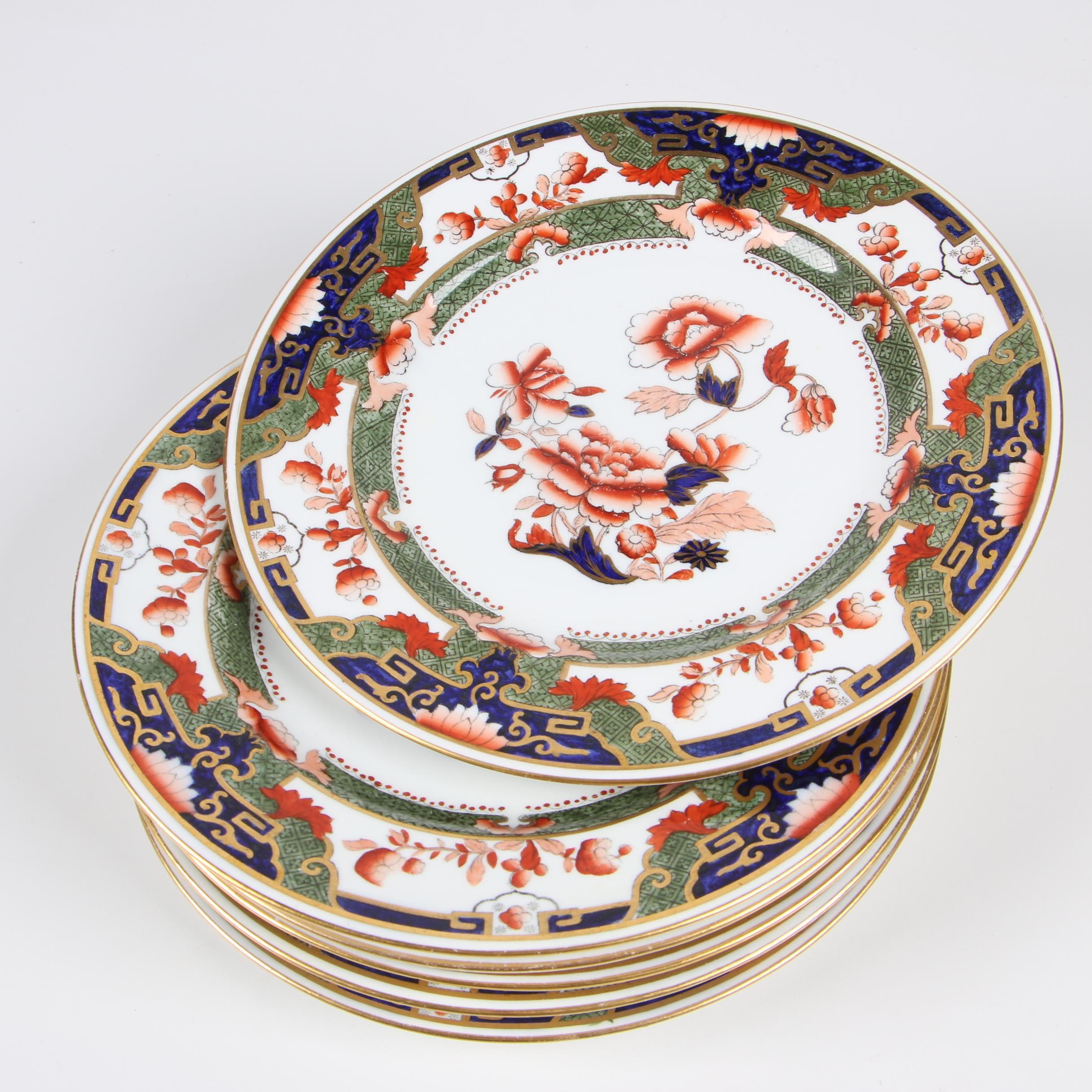 Copeland Spode Imari Porcelain Plates, Early 20th Century