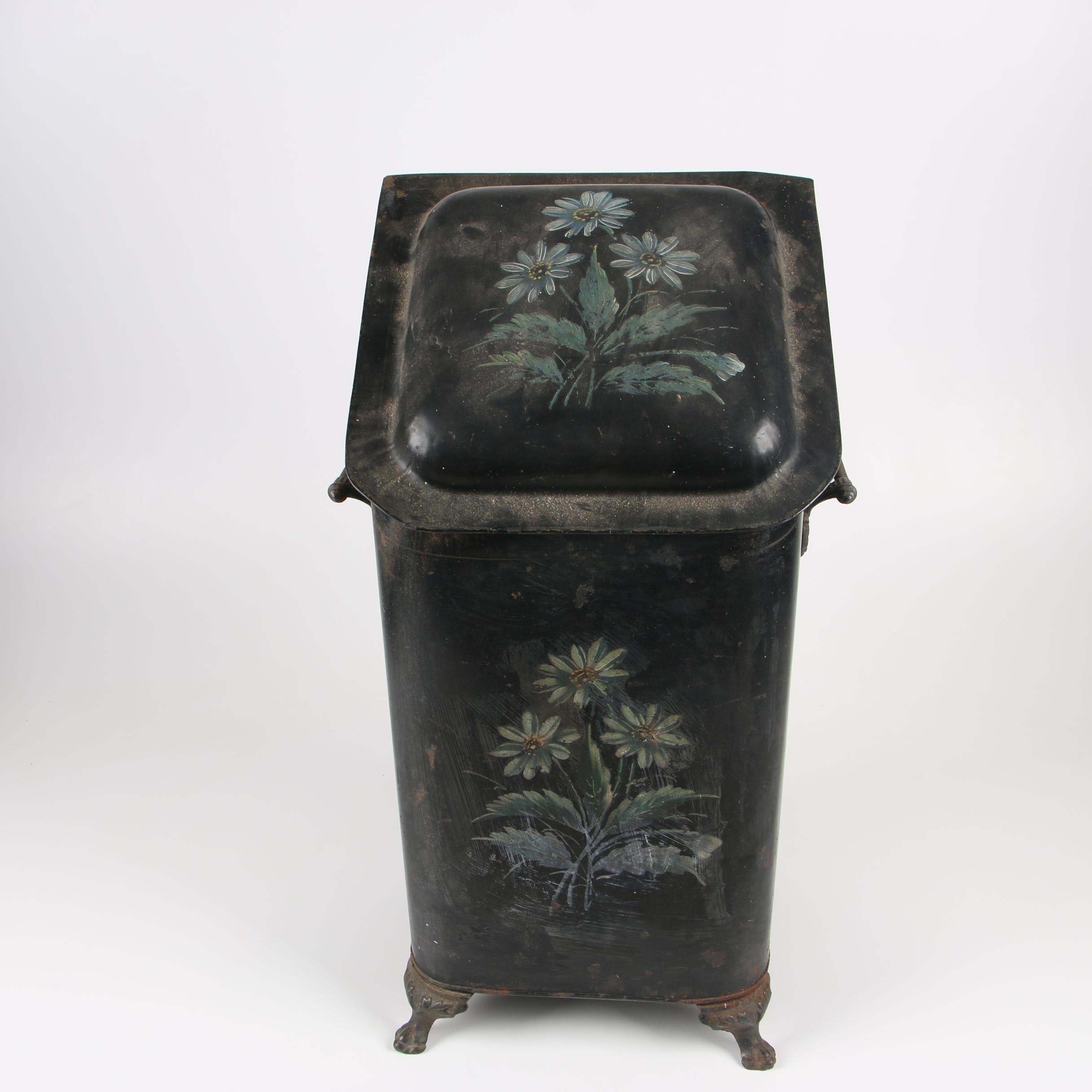 Tole Coal Scuttle, Late 19th/Early 20th Century
