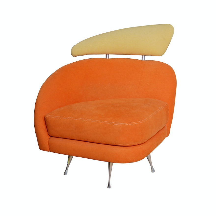 Modern Swivel Chair By American Leather Studio 21st Century