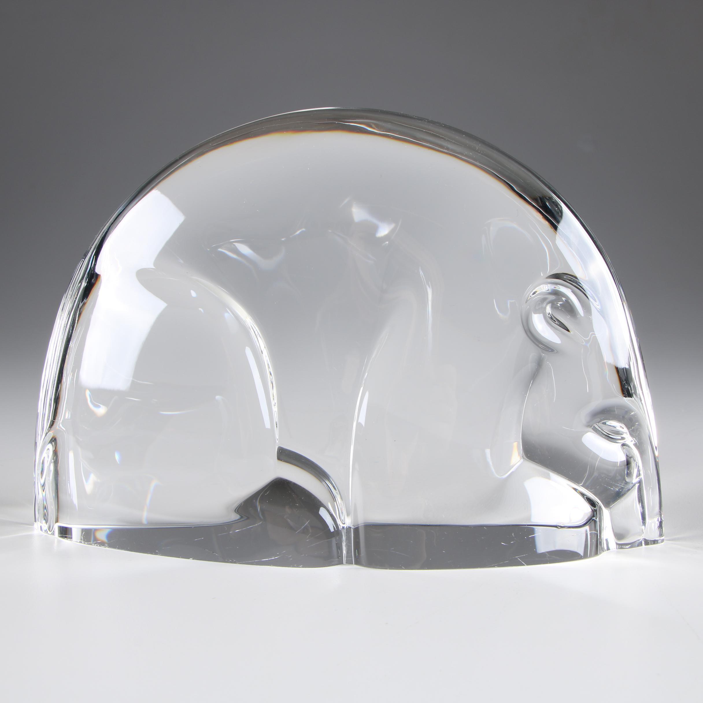 "Steuben Art Glass ""Woodland Bear"" Figurine, Circa 1992"