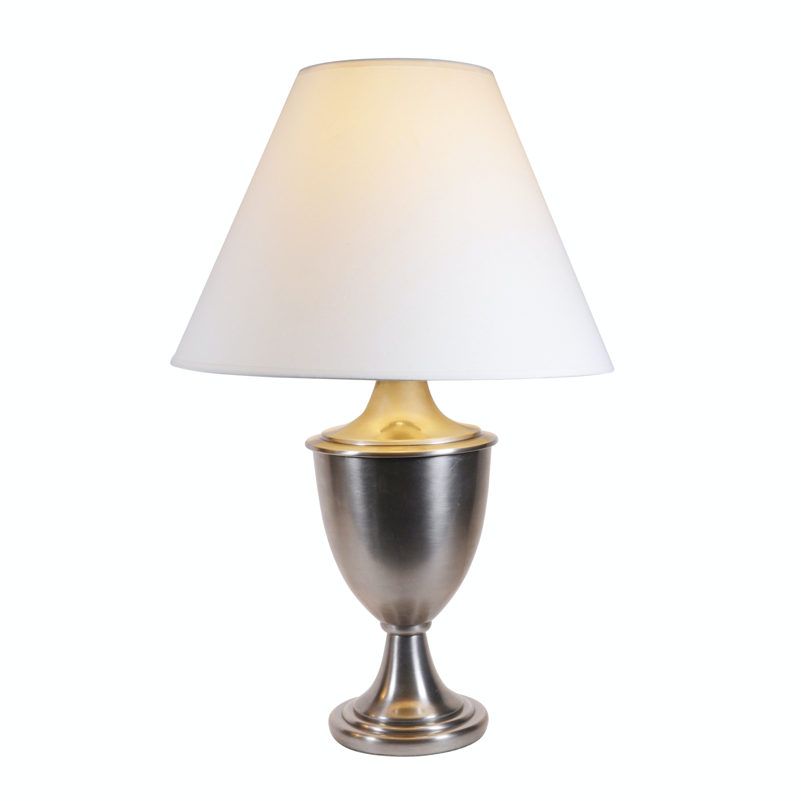 Brushed Nickel Urn Form Table Lamp
