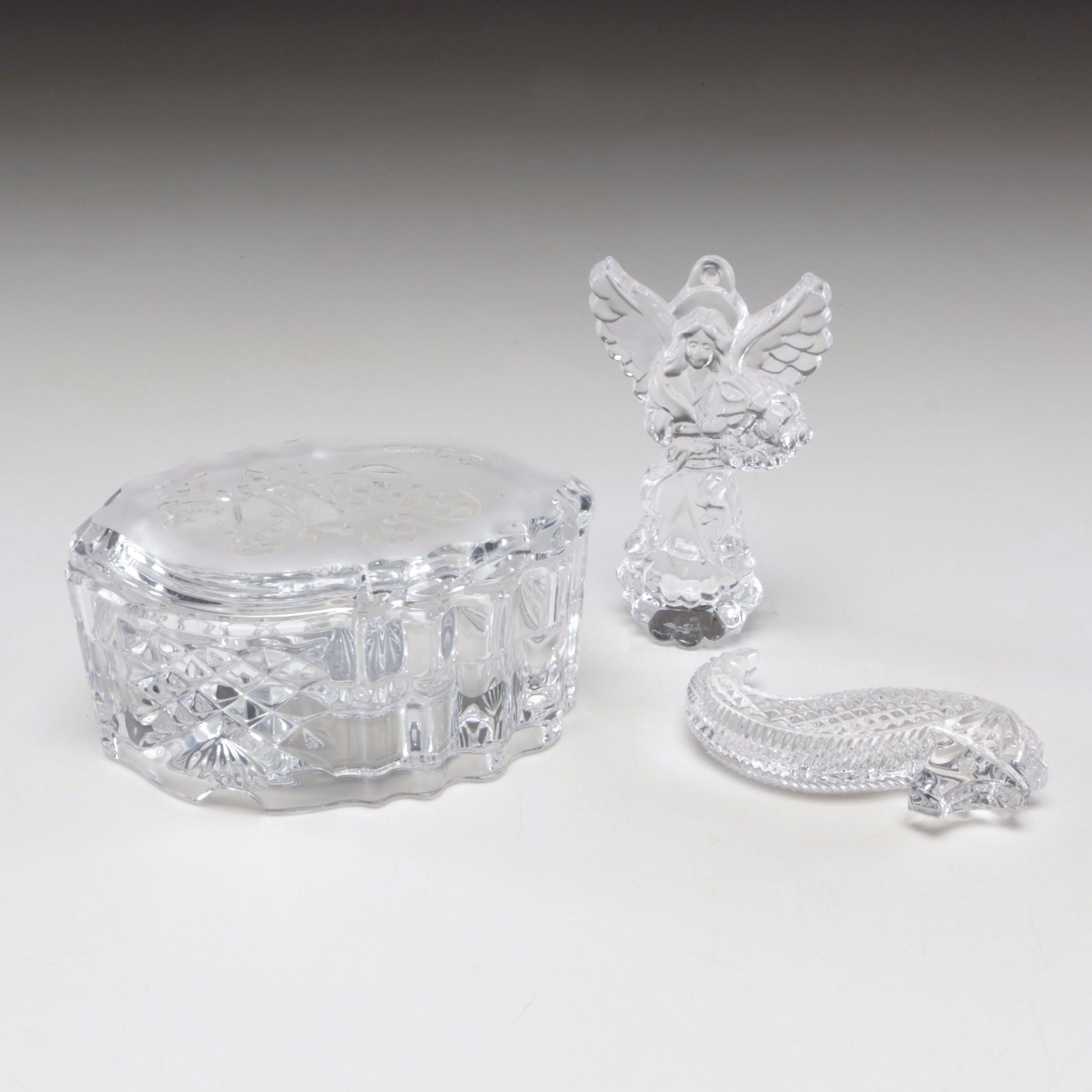 Waterford Crystal Figurines and 2004 Music Trinket Box