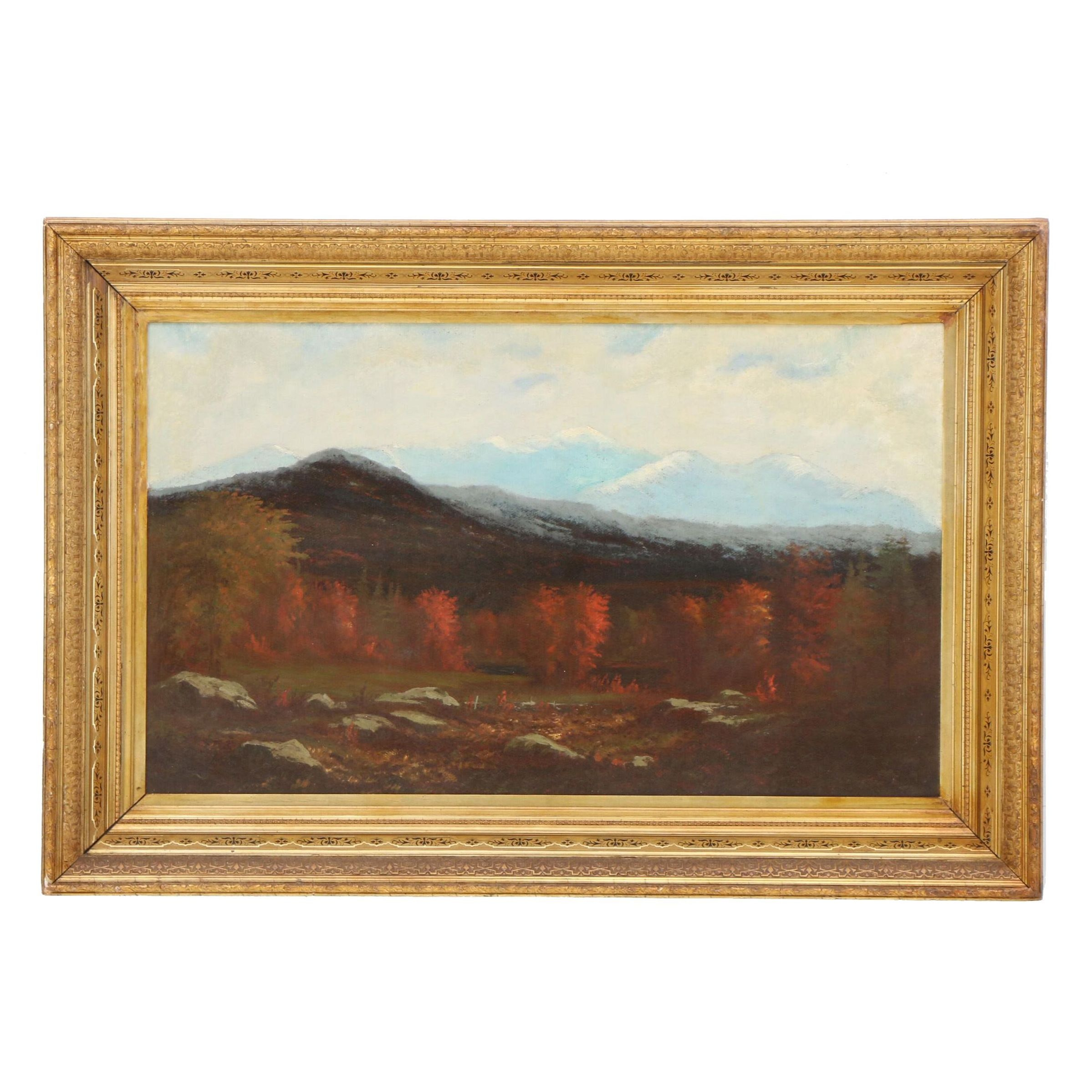 Late 19th Century Fall Landscape Oil Painting