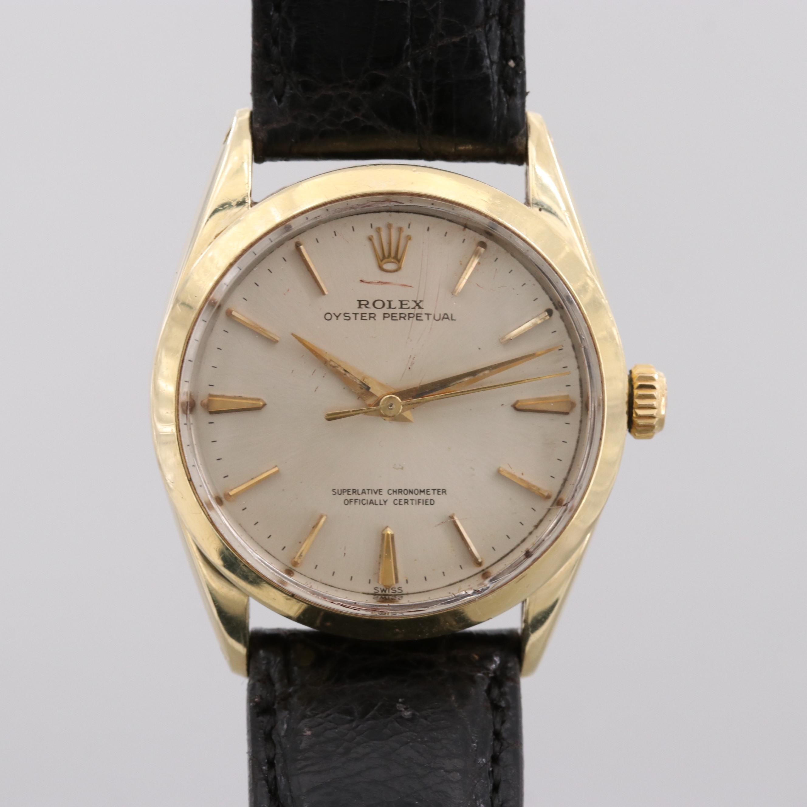 Rolex Oyster Perpetual Gold Shell Stainless Steel Automatic Wristwatch, 1961