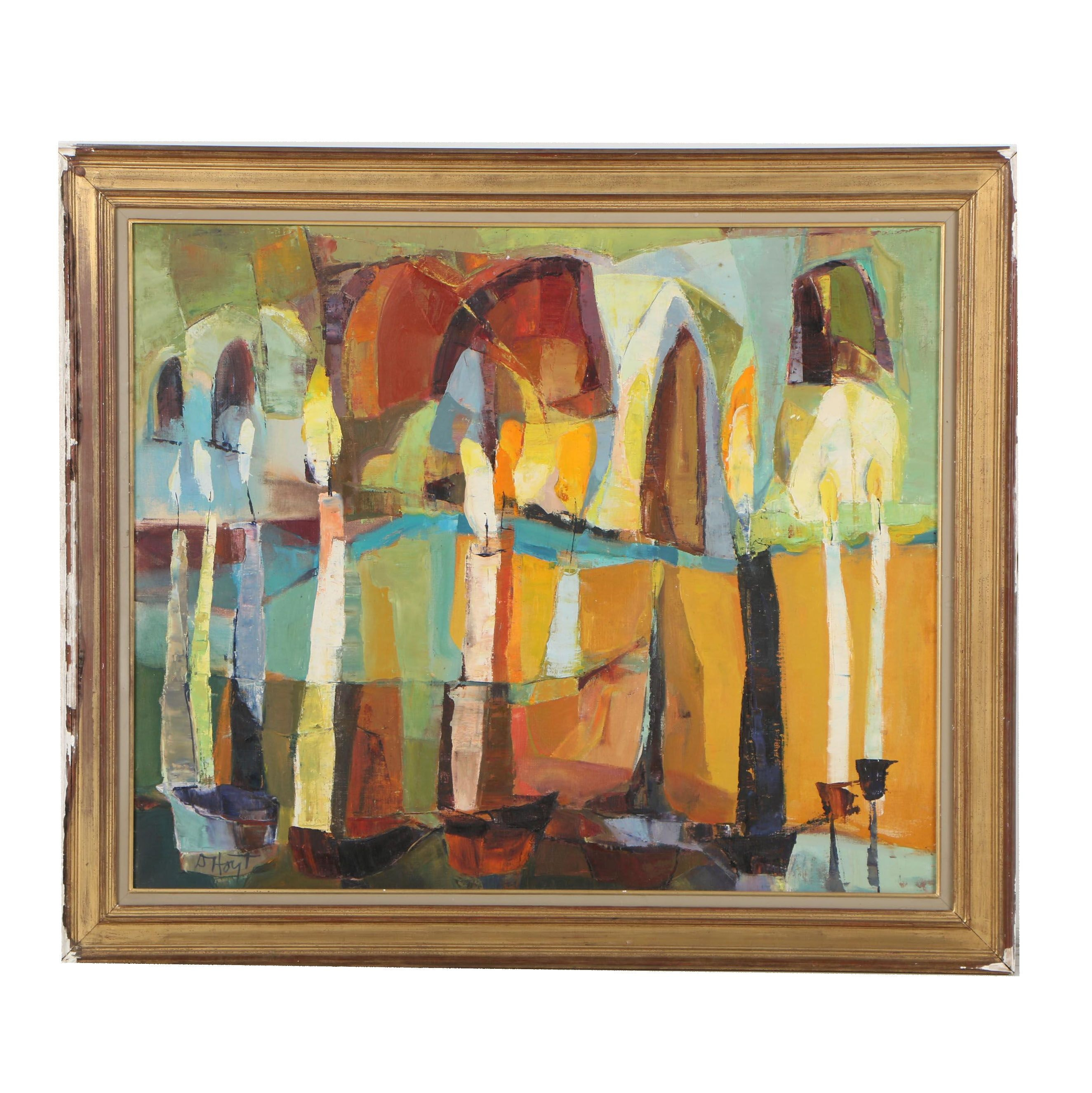Dorothy Hoyt Dillingham Abstract Oil Painting