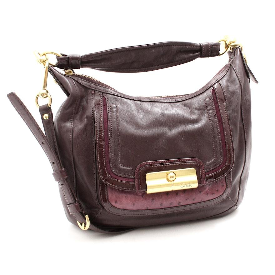 Coach Kristin Spectator Plum Leather Hobo Bag   EBTH 9501816a9c353