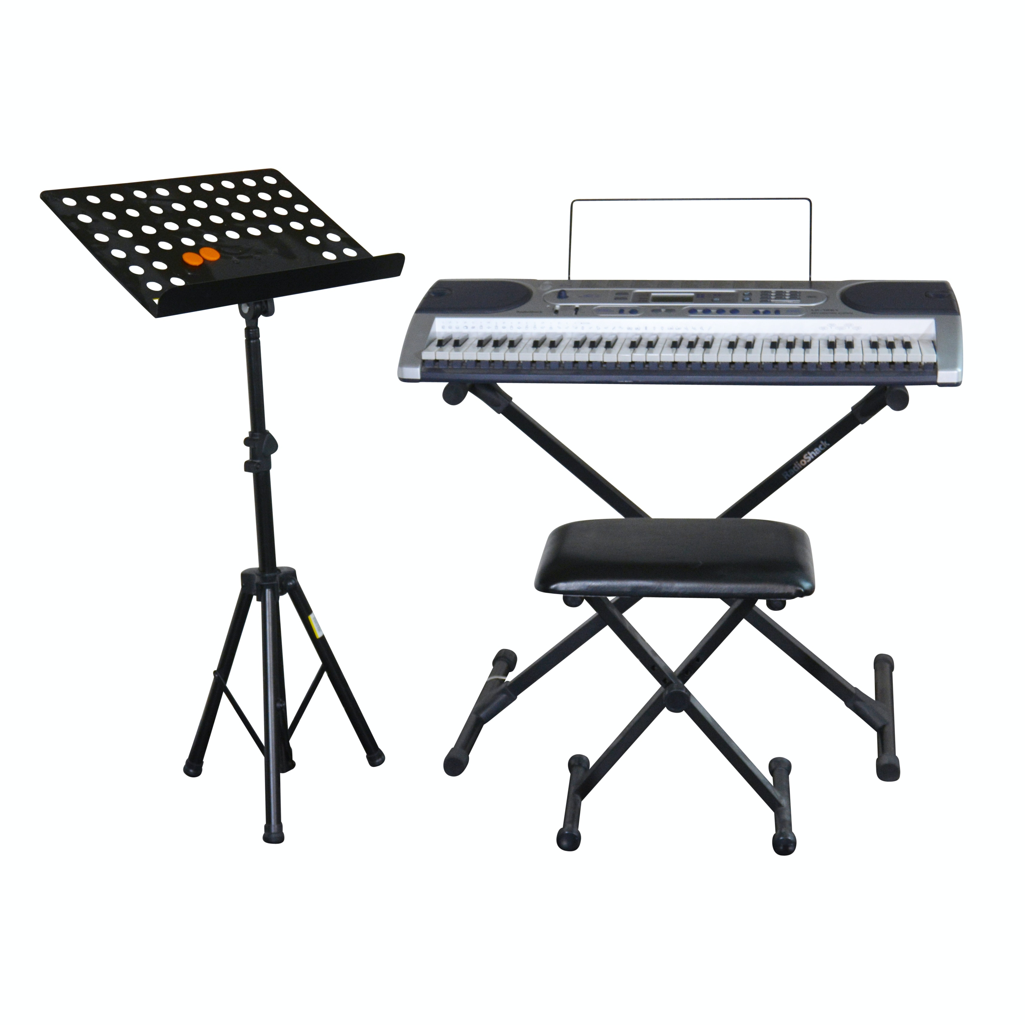 Radio Shack Keyboard LK -1261, Bench and Music Stand