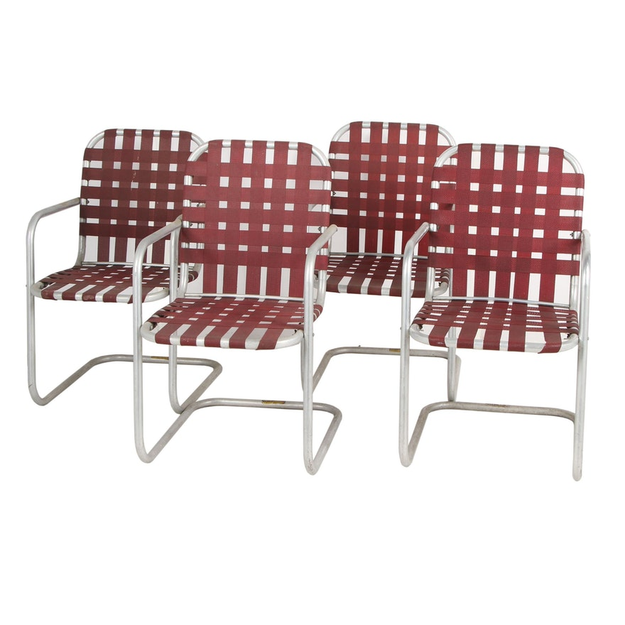 Wondrous Metal Patio Chairs With Vinyl Seats And Backing Home Interior And Landscaping Dextoversignezvosmurscom