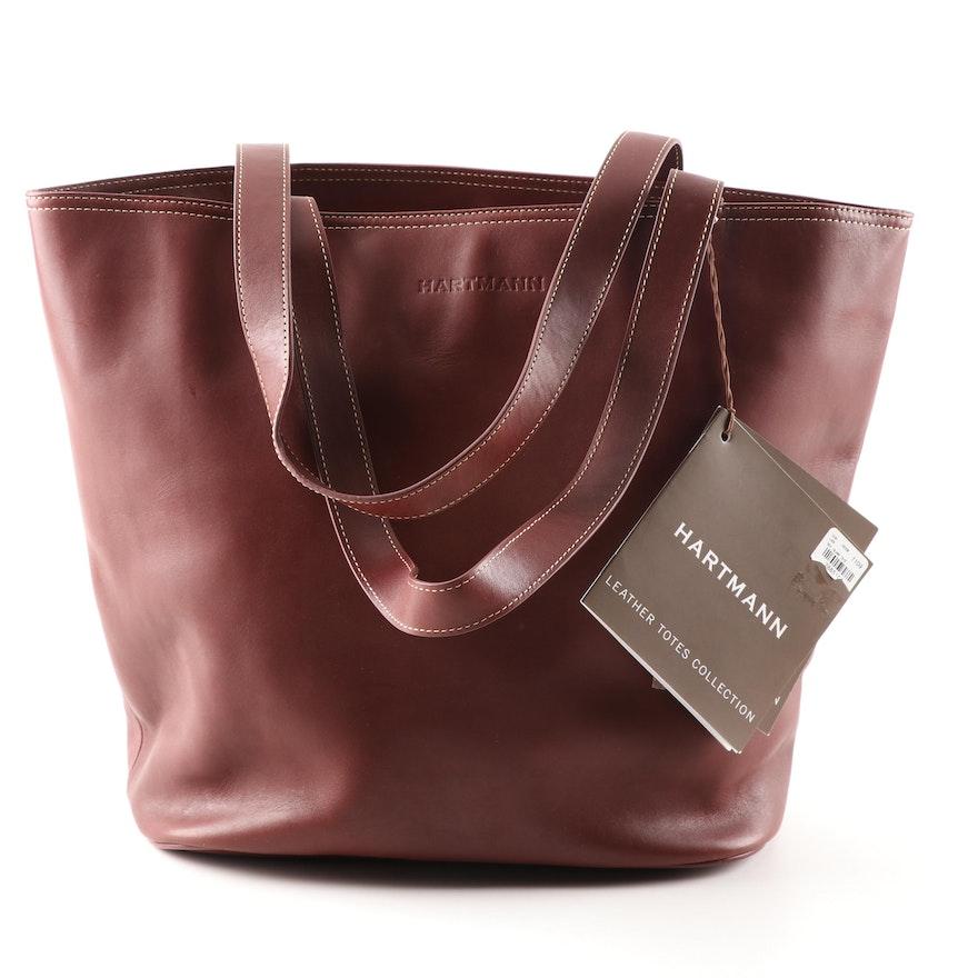8000044efc7 Hartmann Sea Island Cognac Leather Tote Shoulder Bag   EBTH