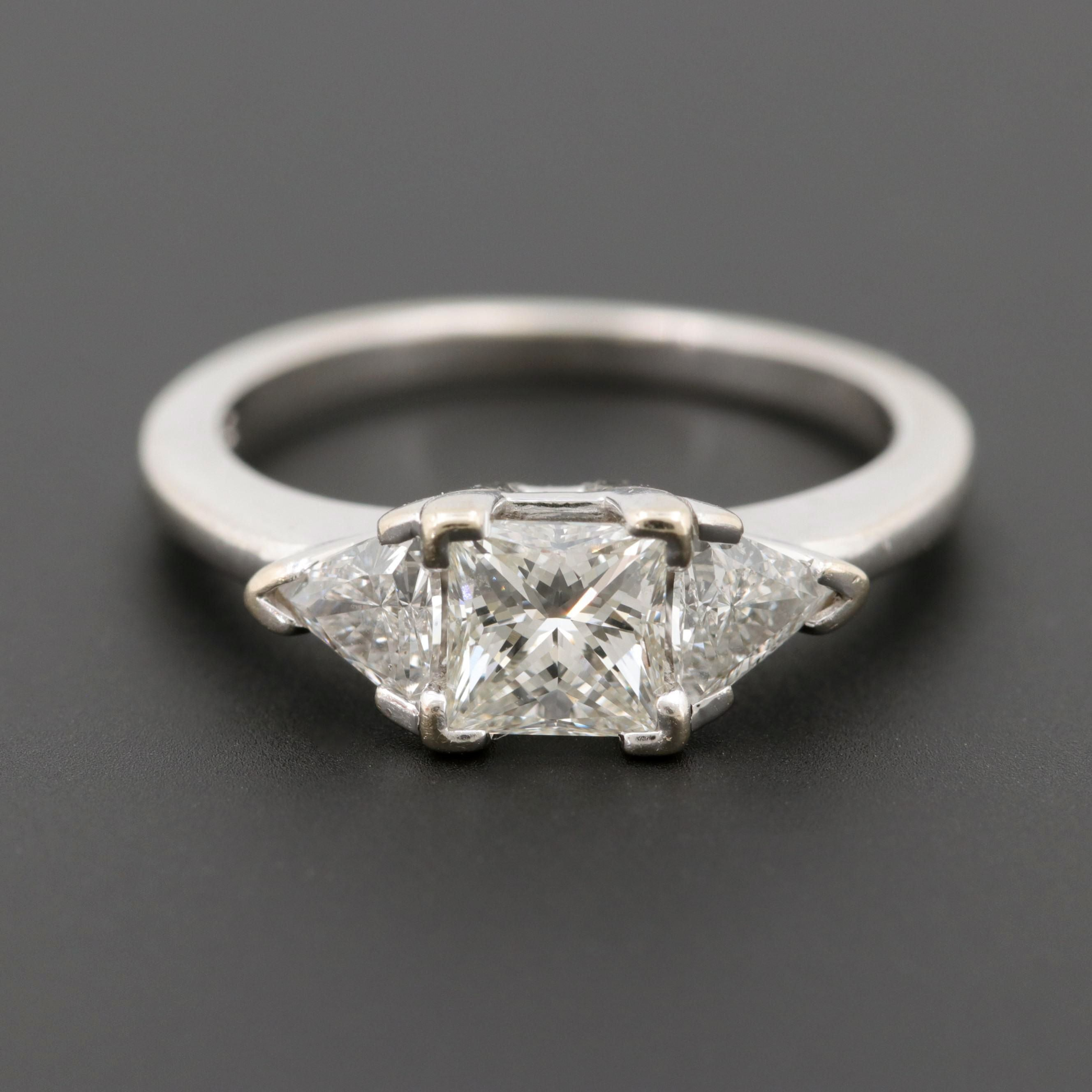 "14K White Gold 1.21 CTW Diamond Ring with Center ""The Leo"" Diamond"
