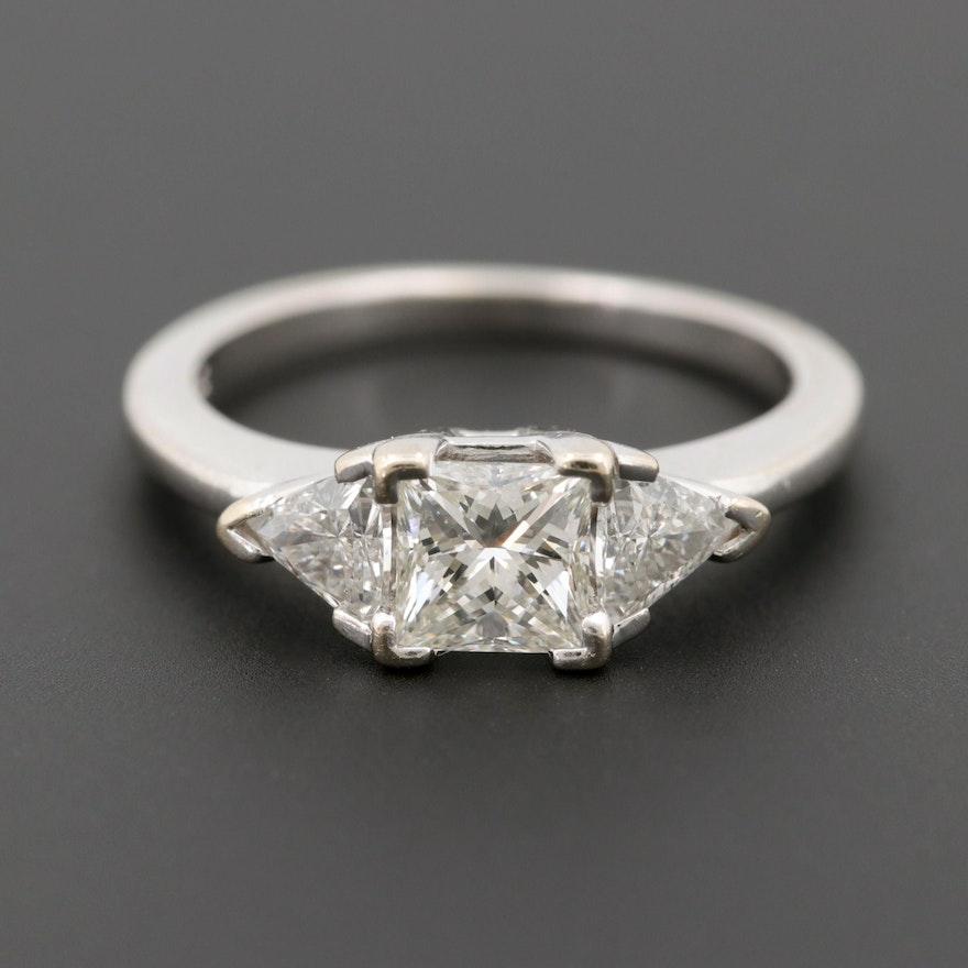14k White Gold 121 Ctw Diamond Ring With Center The Leo Diamond