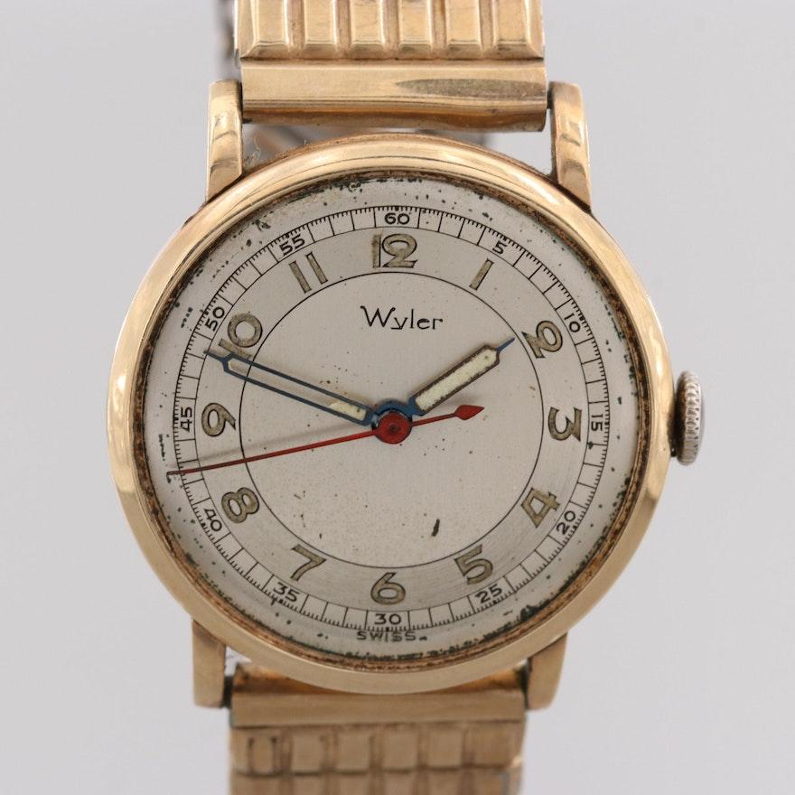 d796be7f82e Vintage Wyler 14K Yellow Gold Swiss Wristwatch