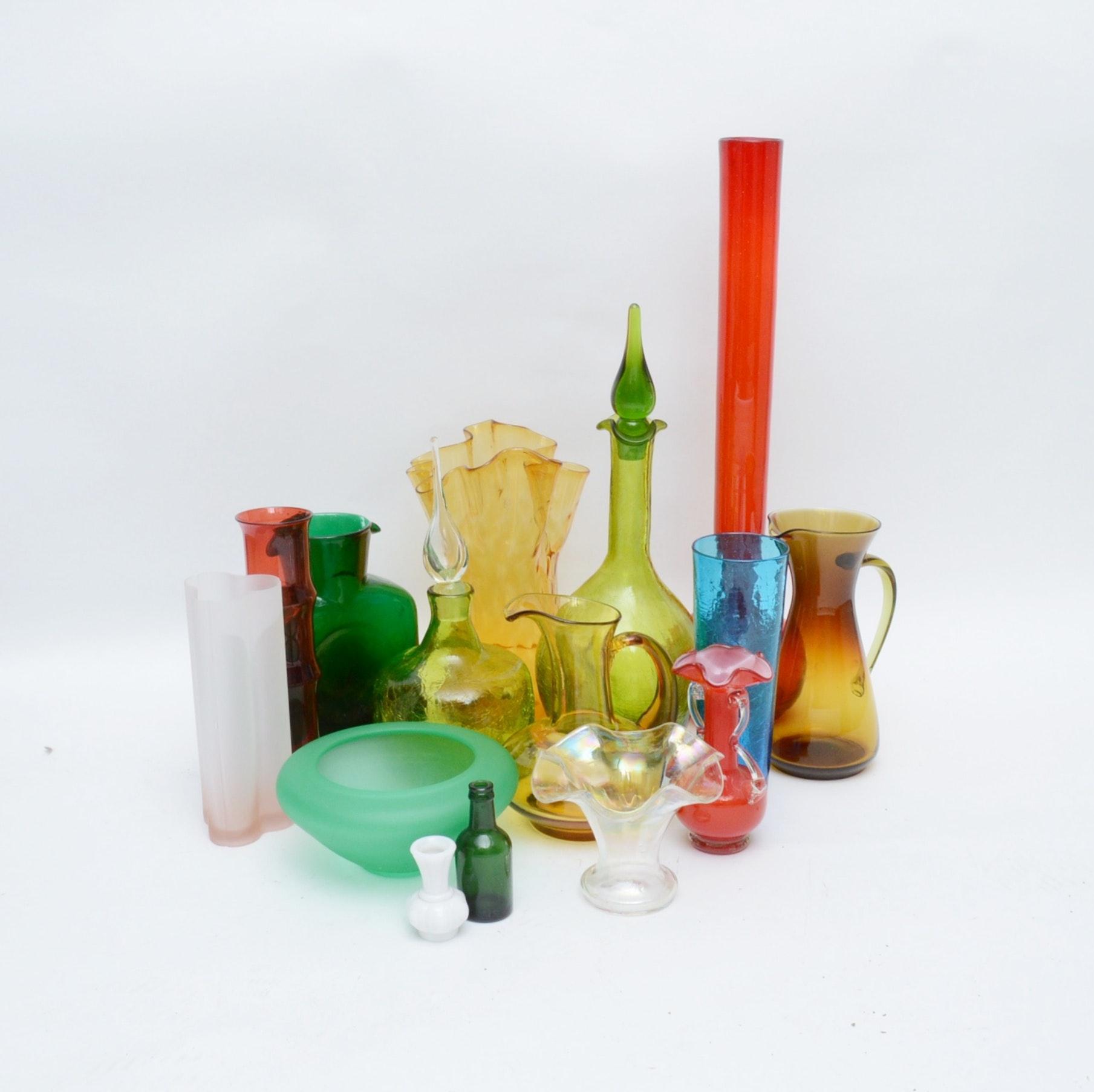 Colorful Mid Century Modern Glassware
