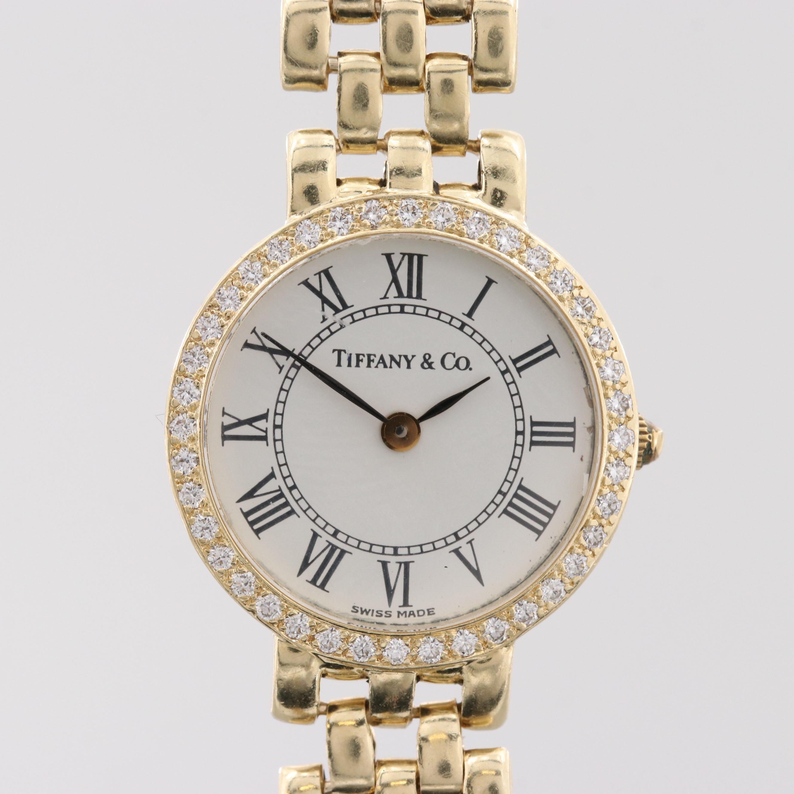 Tiffany & Co. Classic 14K Yellow Gold 1.00 CTW Diamond Quartz Wristwatch