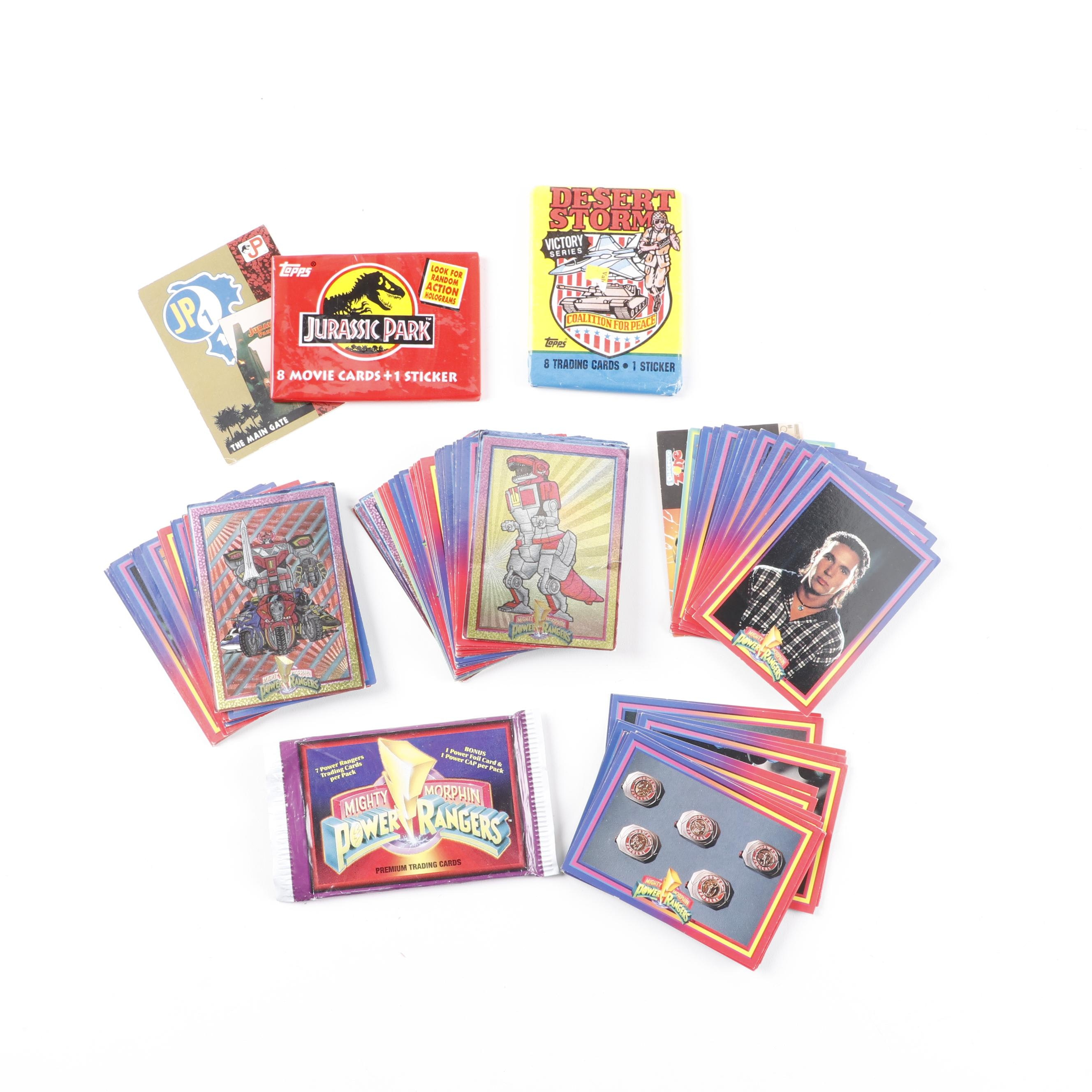 Mighty Morphin Power Rangers, Jurassic Park and Other Trading Cards, 1990s
