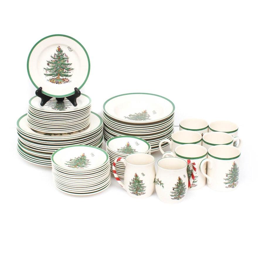 Spode Christmas Plates.Spode Christmas Tree Dinnerware Set