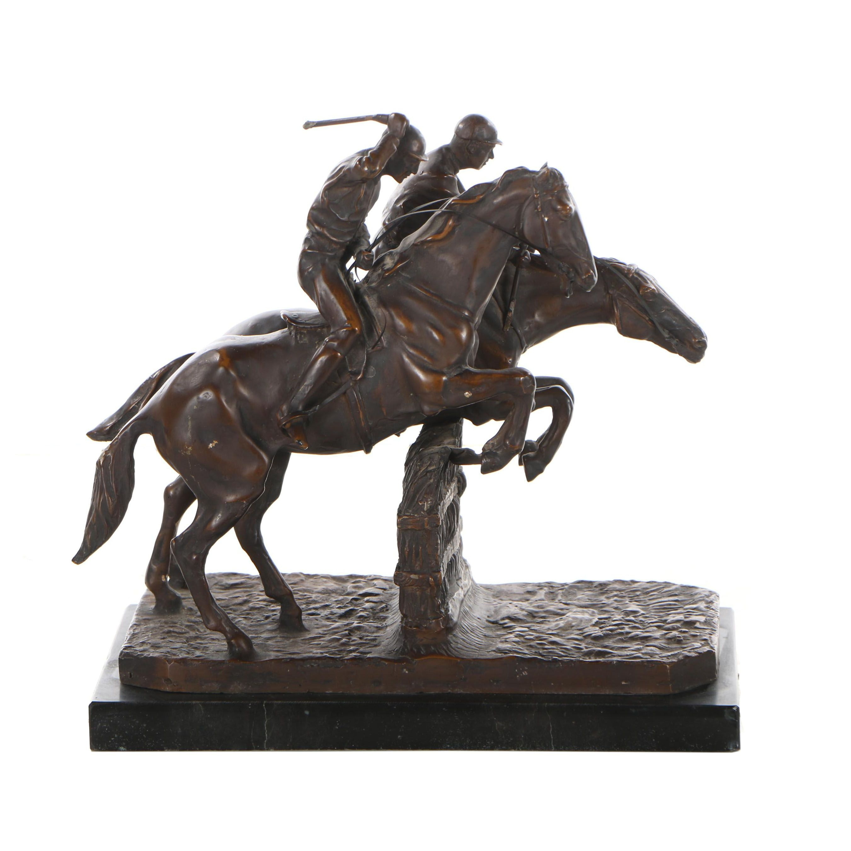 "Bronze Sculpture after Isidore Jules Bonheur ""Steeplechase"""