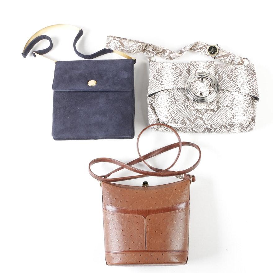 623e68ebf54a Leather and Suede Shoulder Bags Including Coccinella, Coblentz and Prestige  ...