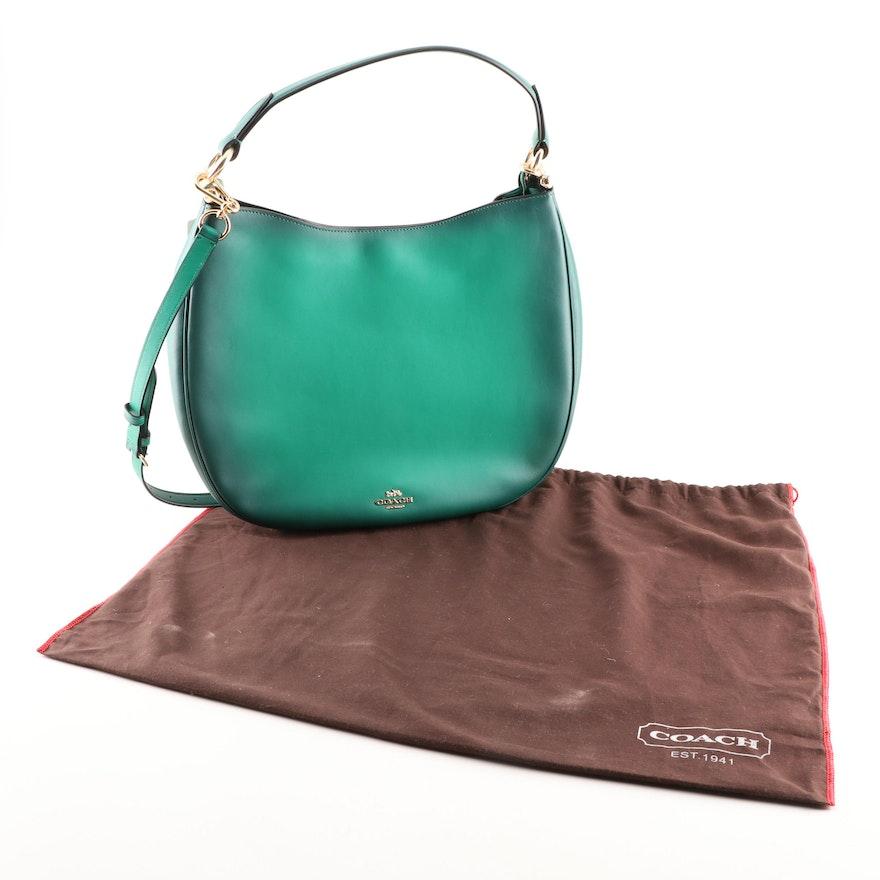 Coach Nomad Green Leather Hobo Handbag   EBTH 9c6e12f11def3