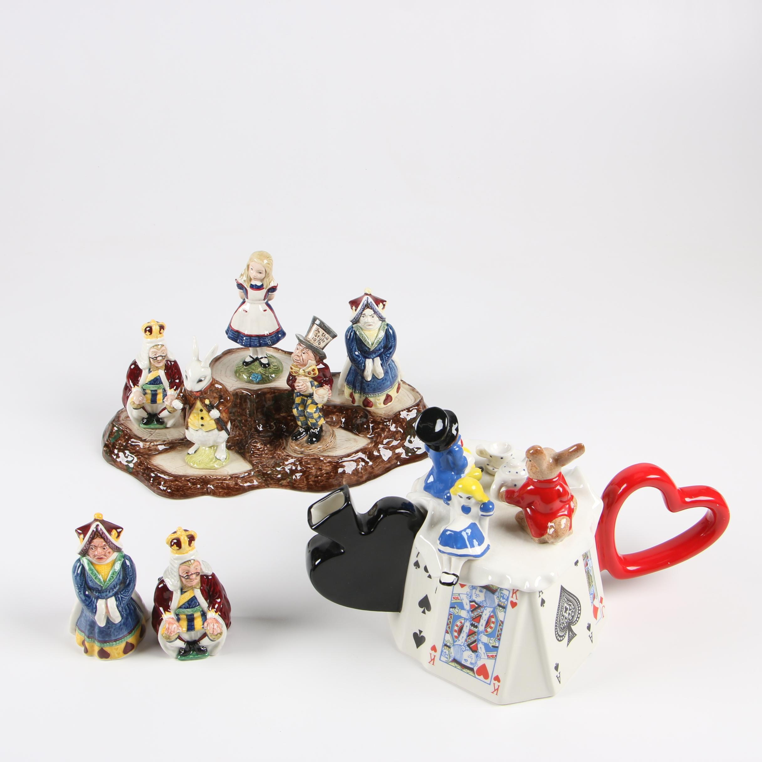 Alice in Wonderland Teapot and Décor by Beswick and South-West Ceramics