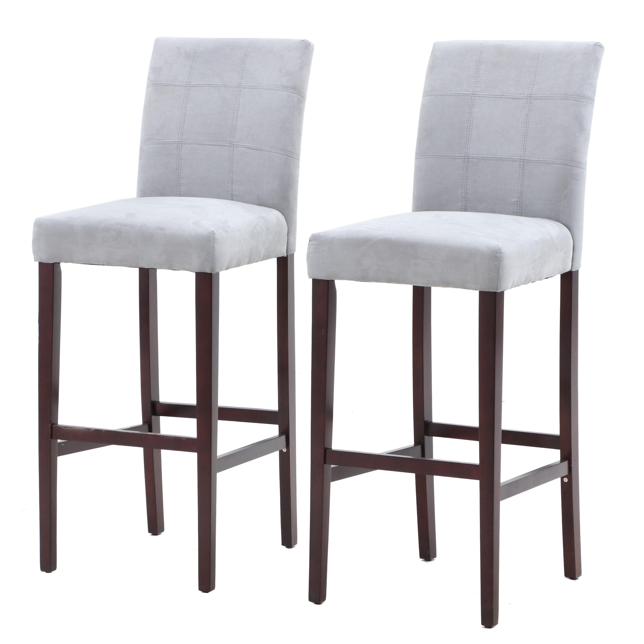 Finley Home Palazzo Microfiber Upholstered Bar Stools