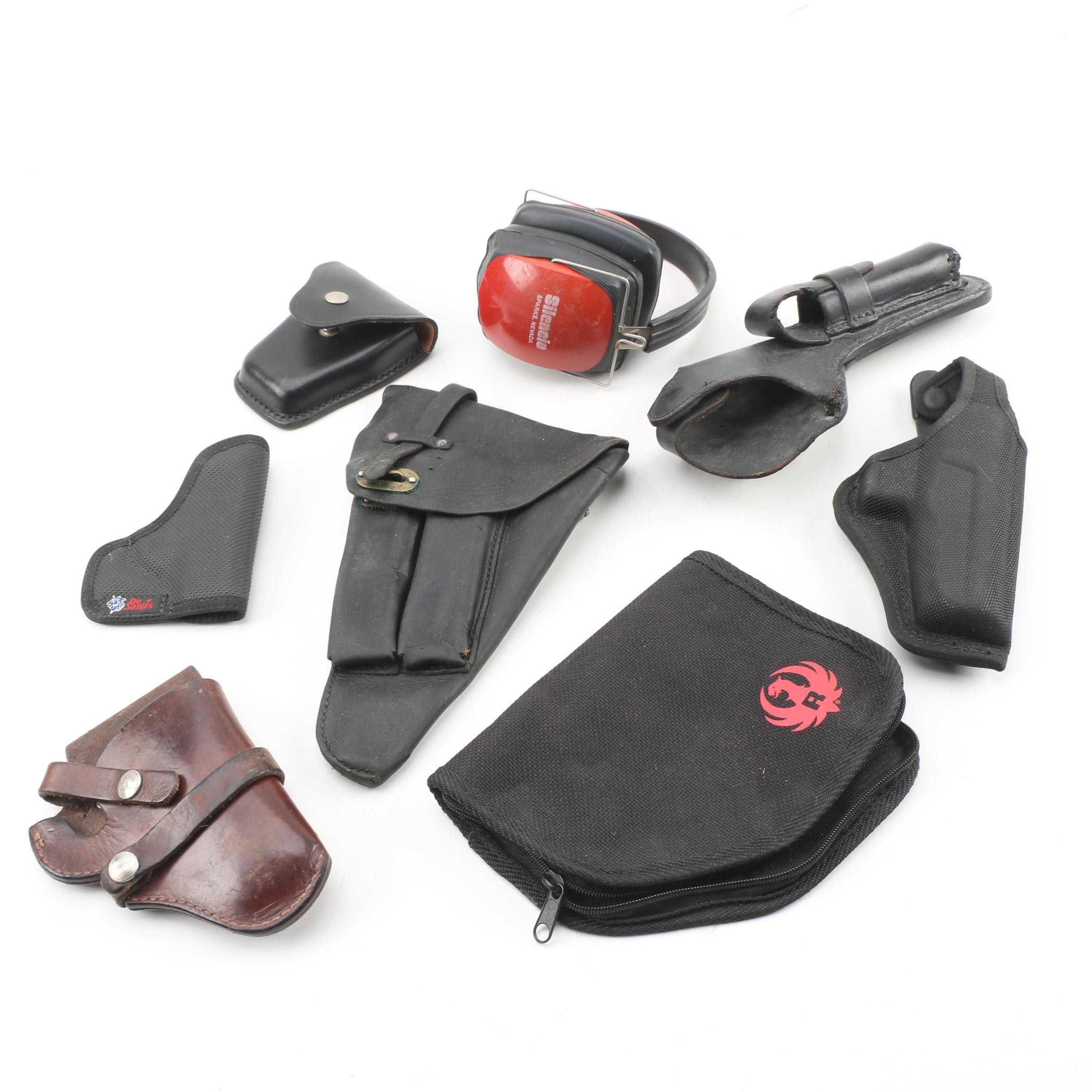 Gun Holsters with Noise Reduction Ear Muffs