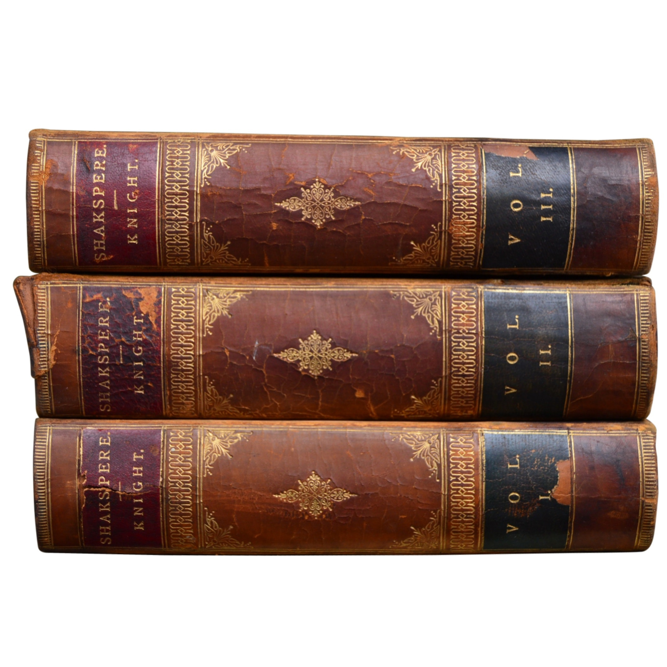 "1884 ""The Works of Shakspere"" 3-Volume Set Edited by Charles Knight"