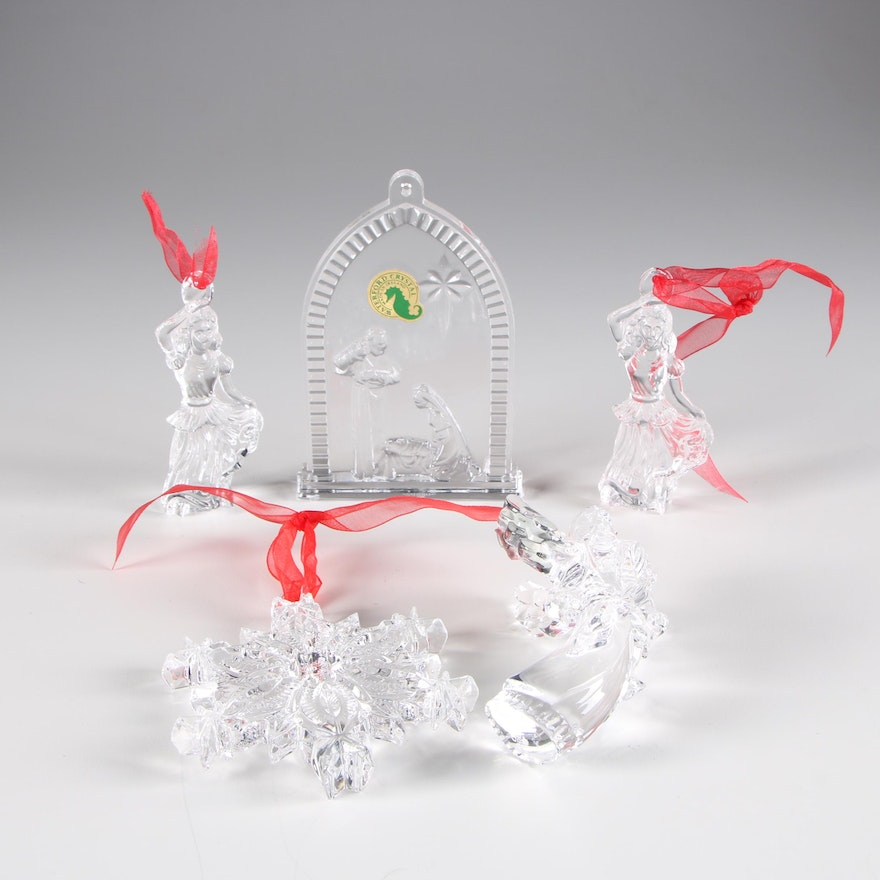 Crystal Christmas Ornaments.Waterford Crystal Christmas Ornaments 2000s
