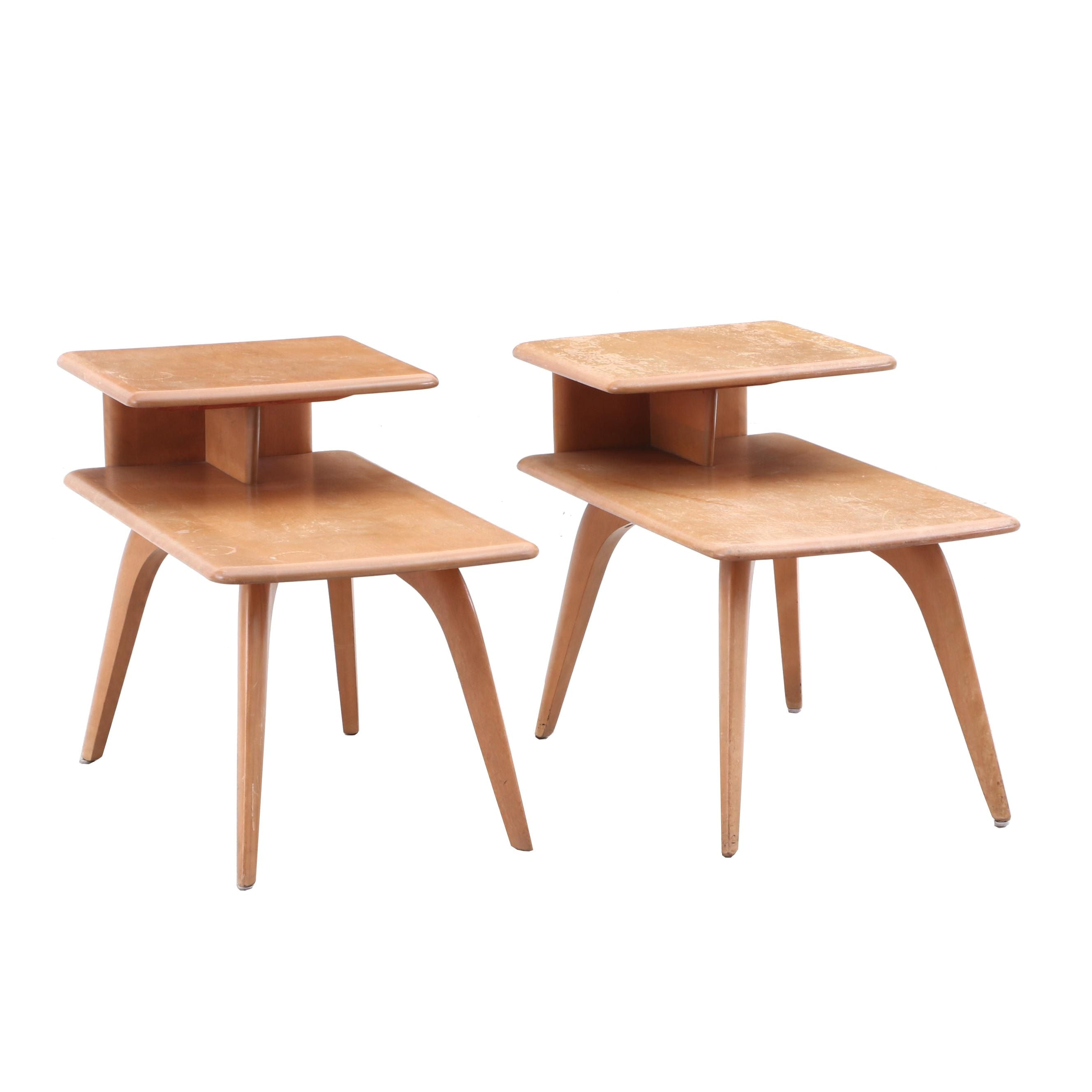 Mid Century Modern Maple End Tables by Heywood-Wakefield