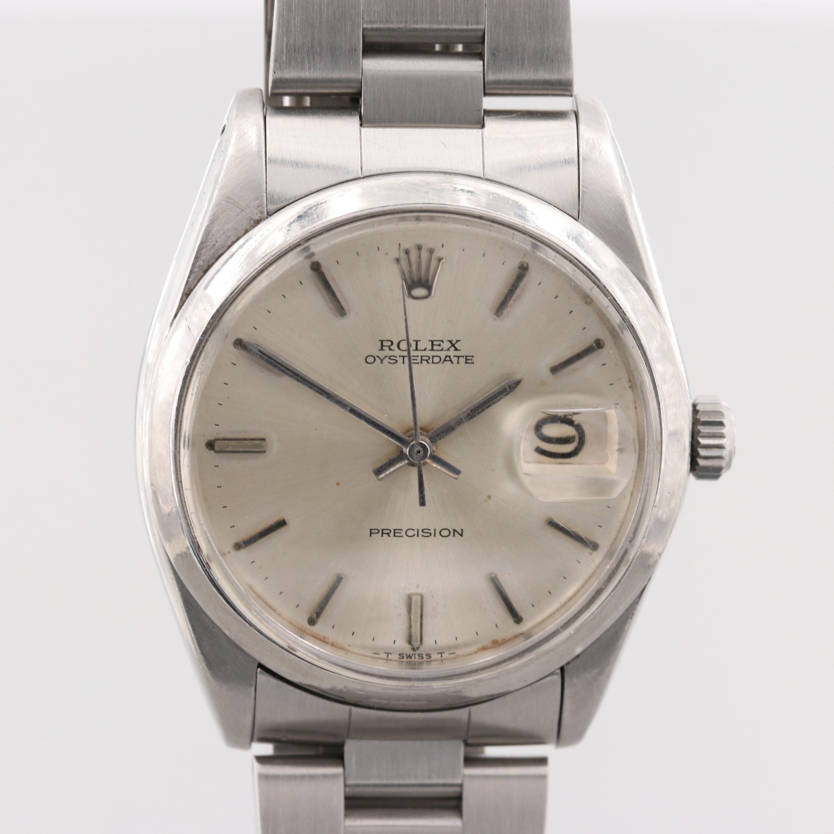 Vintage Rolex Oysterdate Precision 6694 Stainless Steel Wristwatch, 1966
