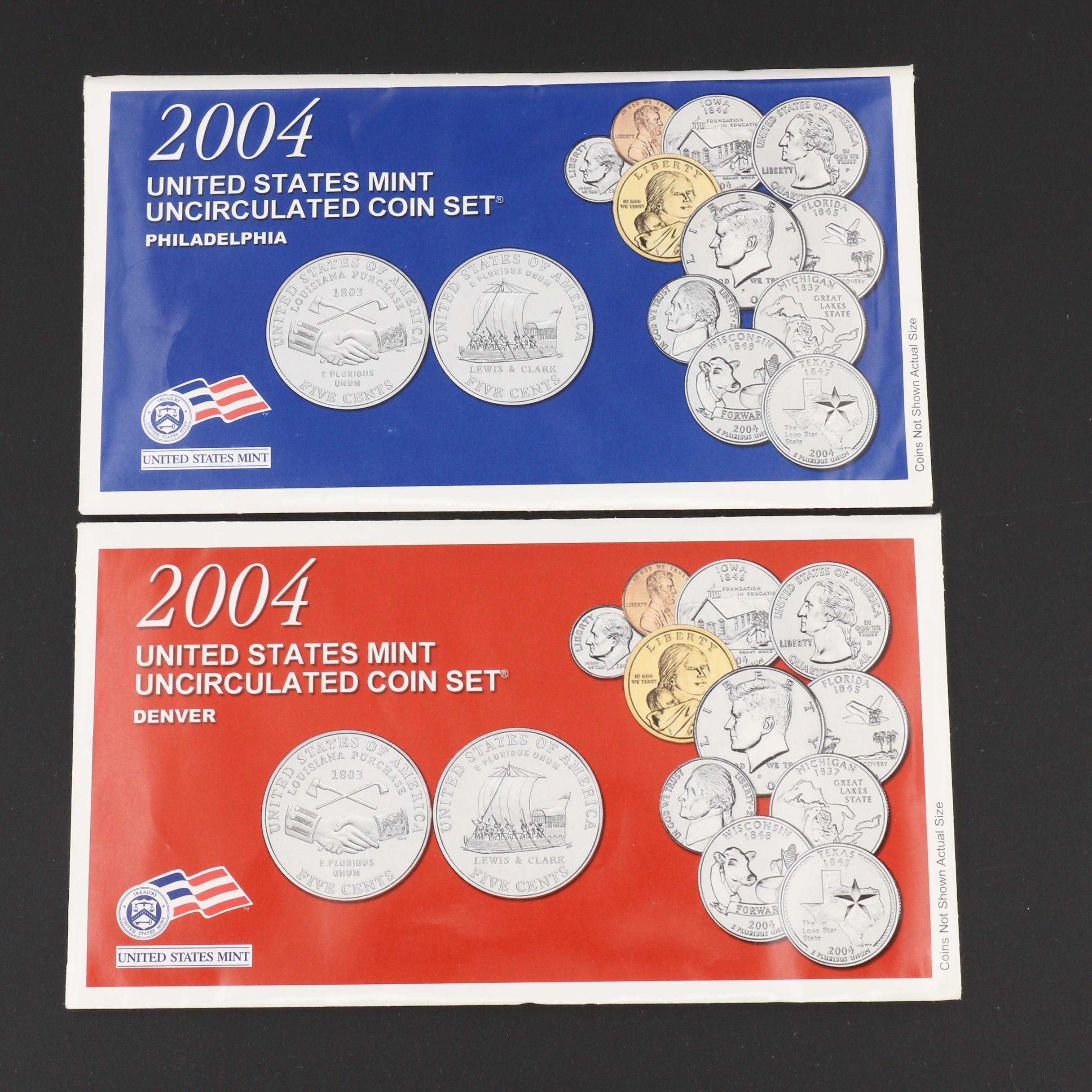 2004 U.S. Mint Uncirculated Set