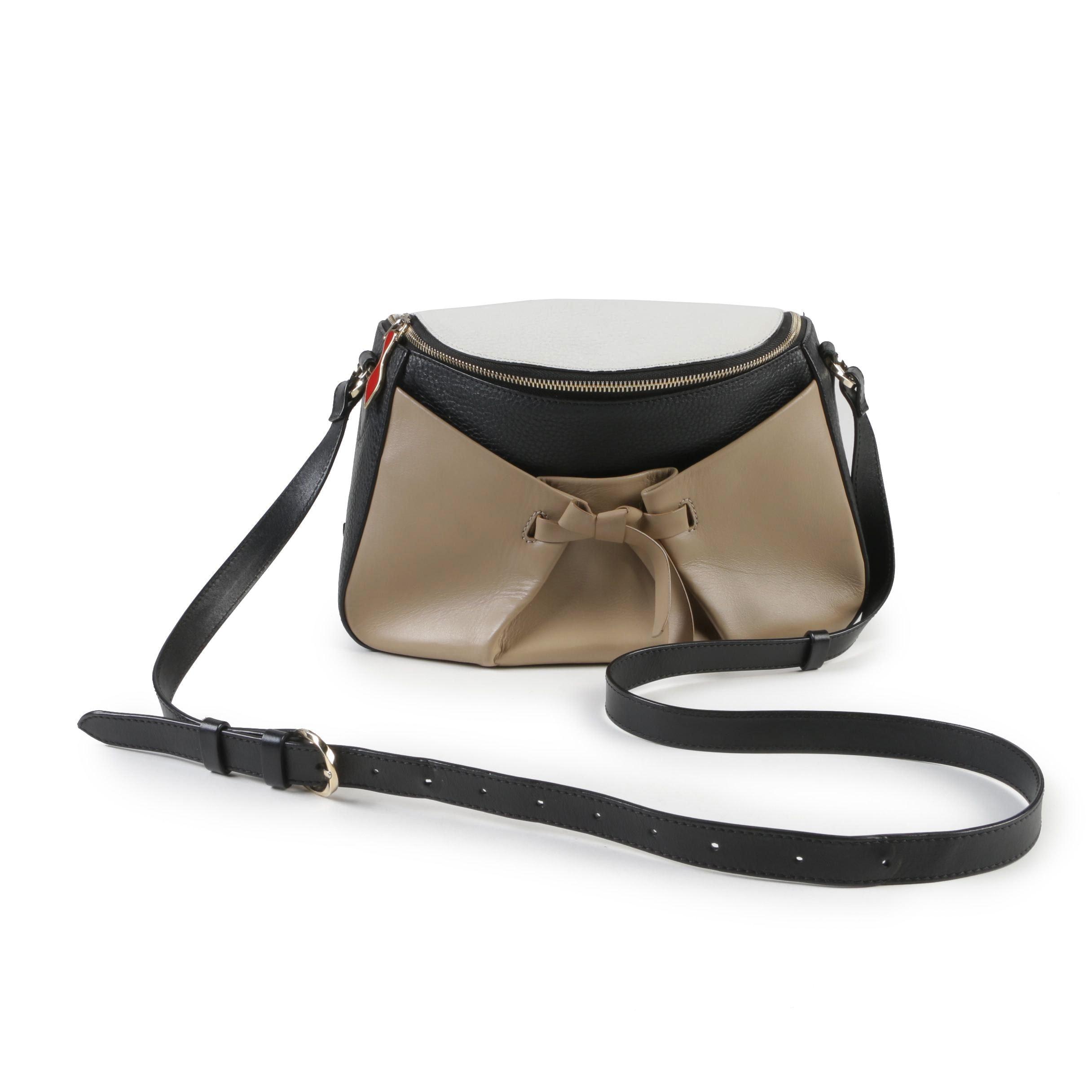 Christian Louboutin Tri-Color Leather Salina Zip Top Crossbody Bag